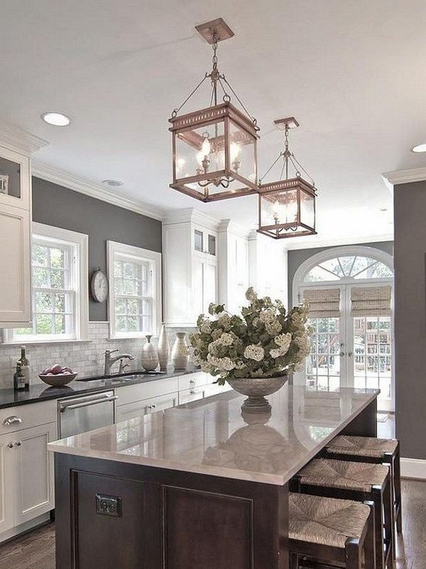 Stunning Variety Of Pendant Lighting With Matching Chandeliers Regarding 30 Awesome Kitchen Lighting Ideas  (Image 22 of 25)