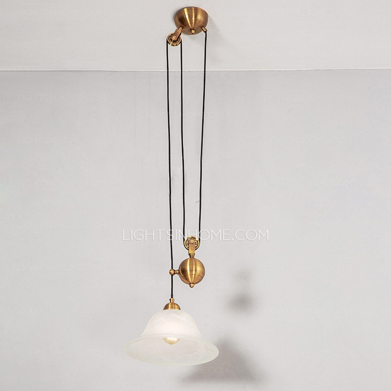 Stunning Variety Of Pull Down Pendant Lights For Creative Pull Down Pendant Light One Light Pulley Shaped (View 12 of 25)