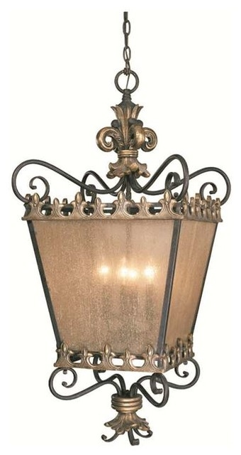 Stunning Well Known Fleur De Lis Light Fixtures With Regard To Jeremiah Lighting Fleur De Lis 4 Light Foyer In French Gold (Image 22 of 25)