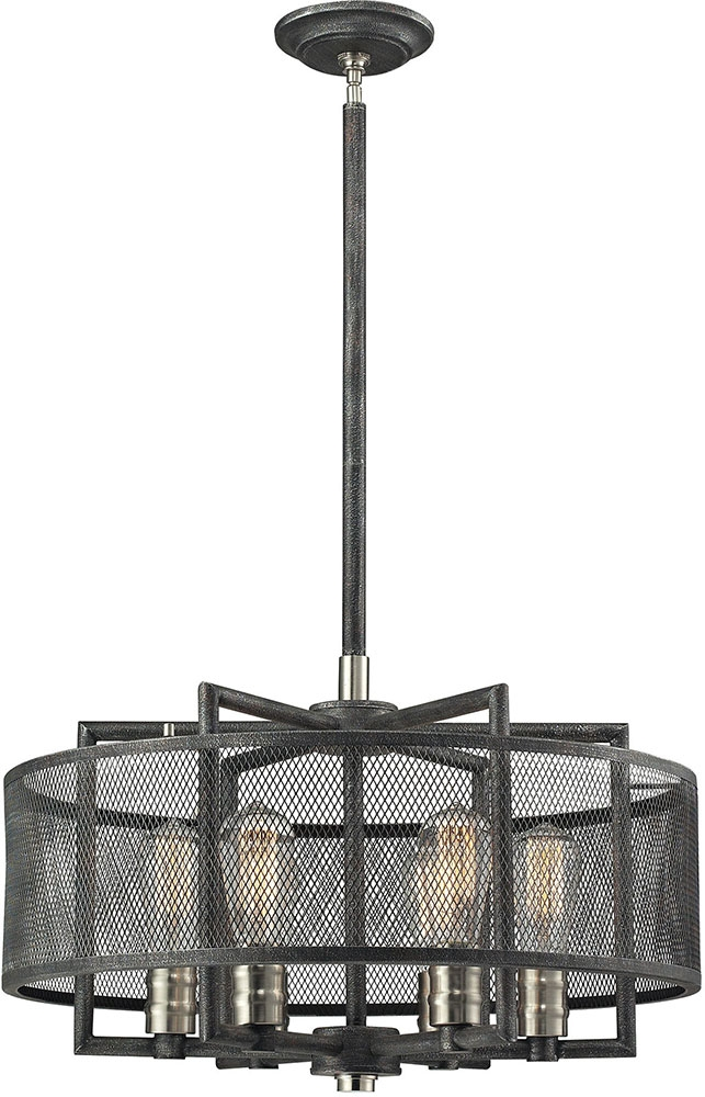 Stunning Well Known Pendant Lighting Brushed Nickel Regarding Elk 31238 6 Slatington Modern Silvered Graphitebrushed Nickel (Image 24 of 25)