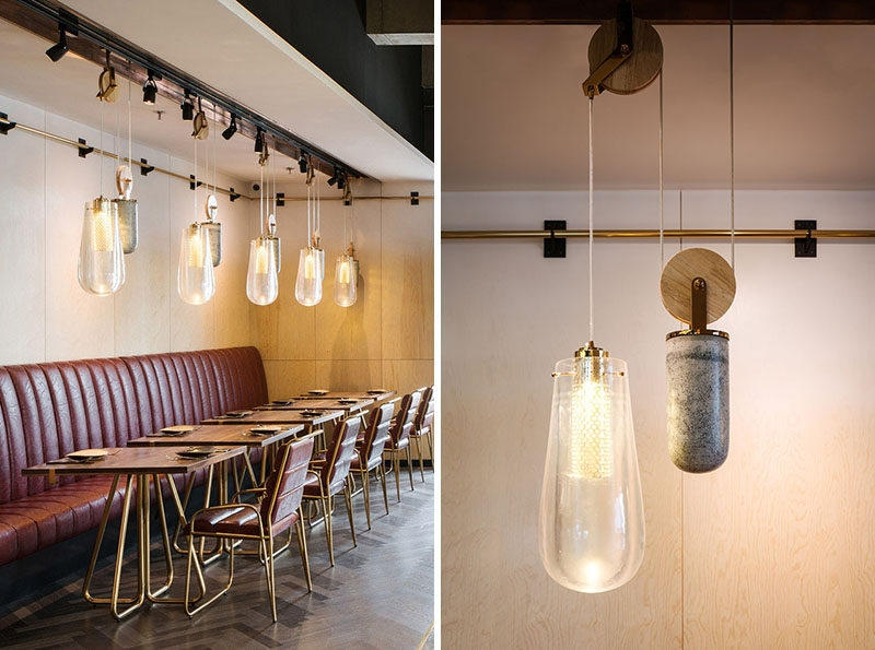 Stunning Wellknown Restaurant Pendant Lighting Regarding This Restaurant Is Filled With Pendant Lighting On A Pulley System (Image 25 of 25)