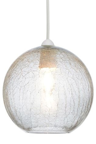 Stunning Wellliked Cracked Glass Pendant Lights Intended For Buy Smoke Crackle Easy Fit Glass Pendant From The Next Uk Online (View 6 of 25)