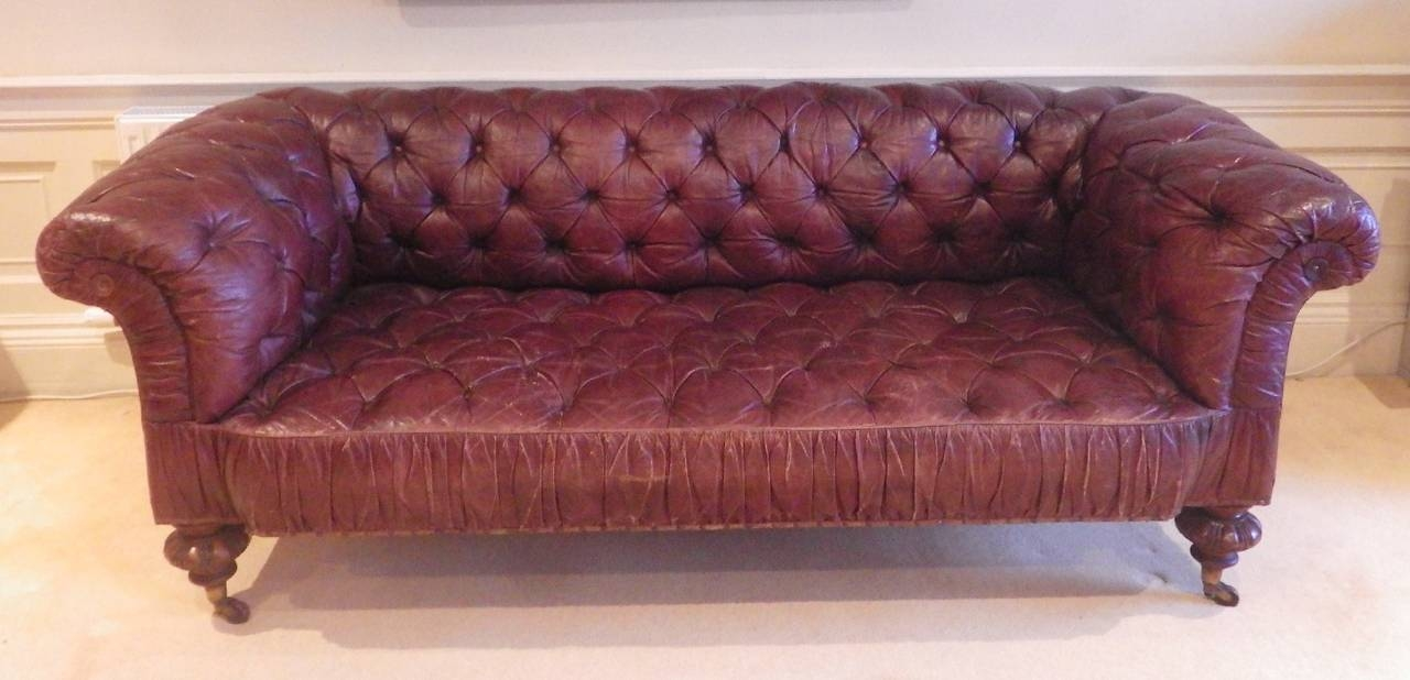 Superb Victorian Leather Sofa Circa 1870 For Sale At 1stdibs Regarding Victorian Leather Sofas (Image 10 of 15)