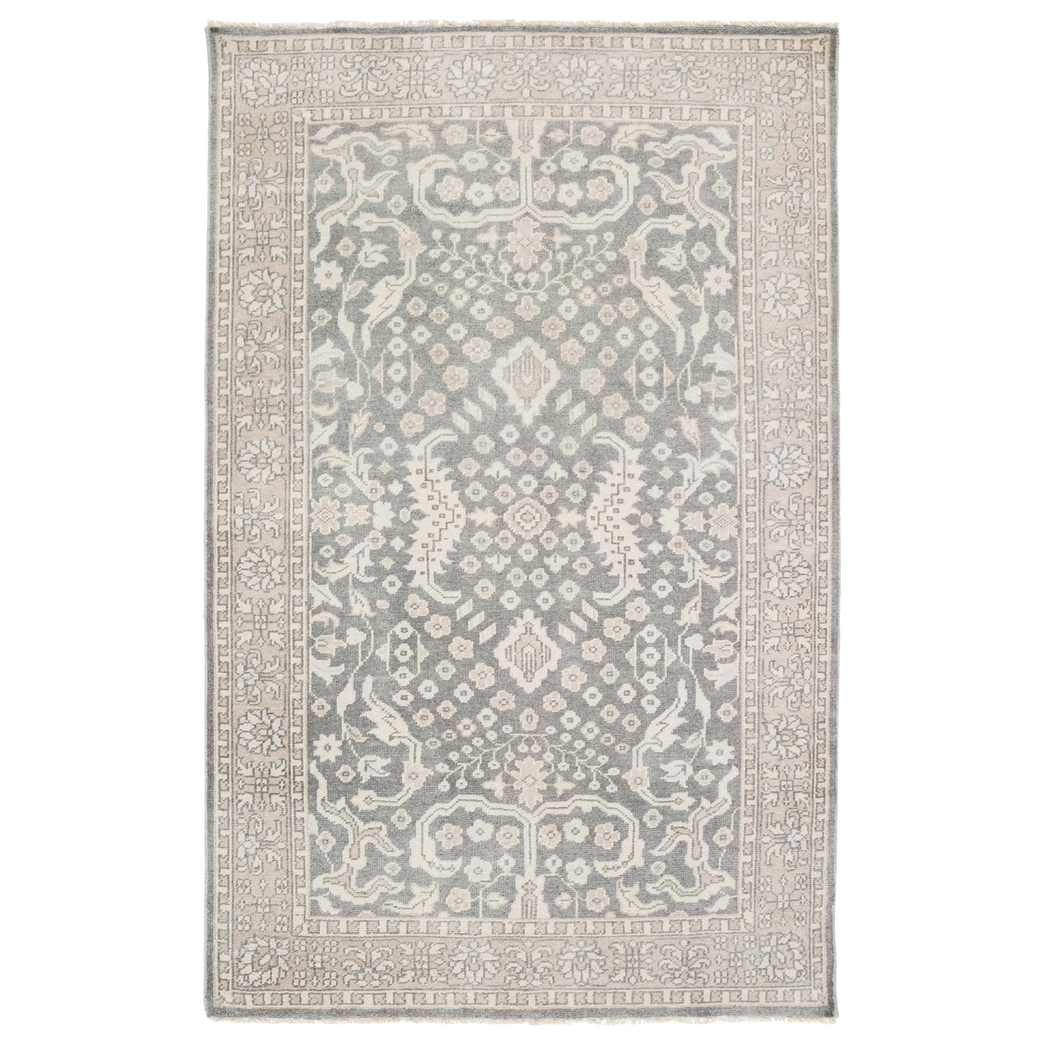Surya Cappadocia Medium Gray Hand Knotted Wool Rug In Knotted Wool Rugs (Image 12 of 15)