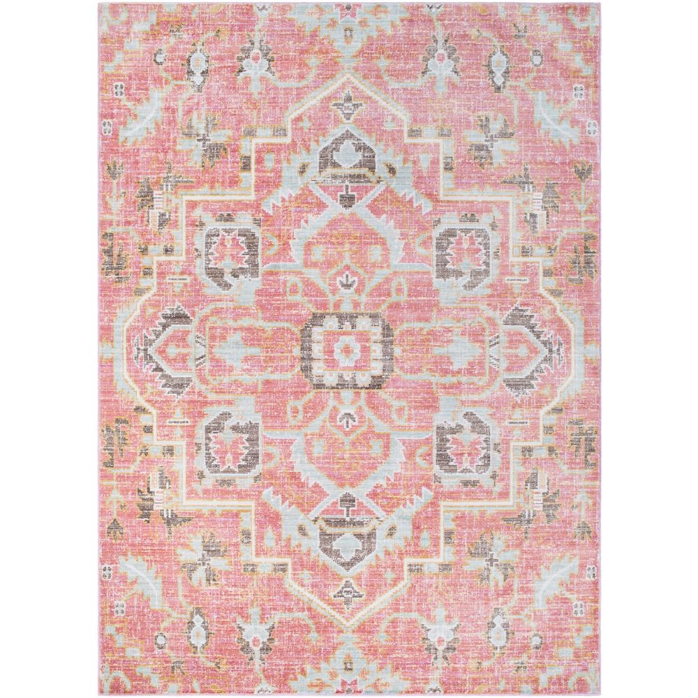 Surya Germili Pale Pink 2 Ft X 3 Ft Indoor Area Rug Ger2318 23 Inside Pink Pattern Rugs (Image 15 of 15)