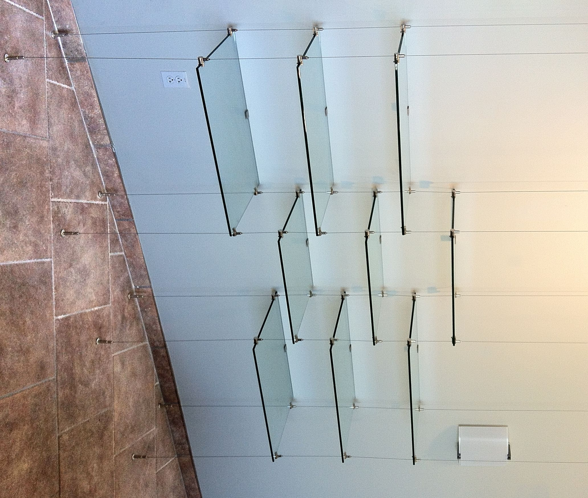 Suspended Cable Shelves For Ventana Medical Systems Artistry In In Glass Shelf Cable Suspension System (Image 10 of 15)