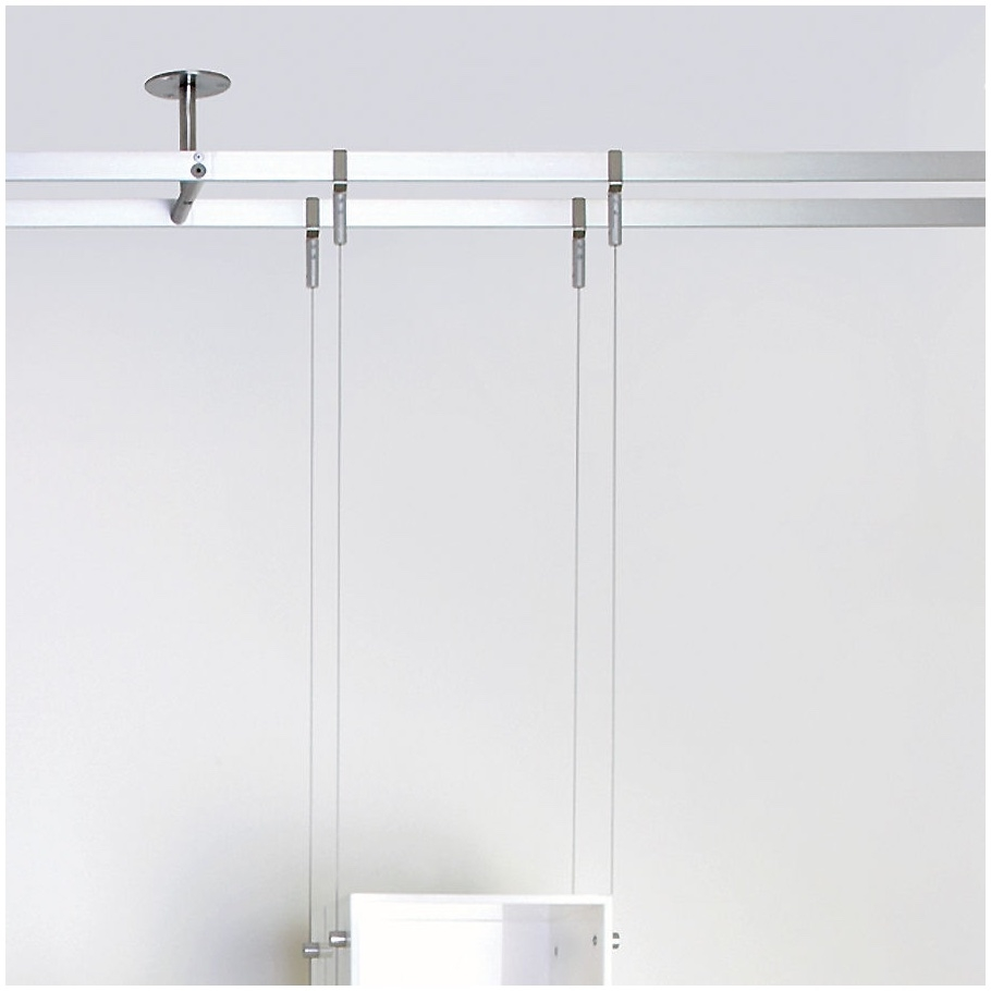 Suspended Glass Shelf Glass Cable Shelving Supporting Bread Intended For Cable Suspended Glass Shelves (Image 12 of 15)