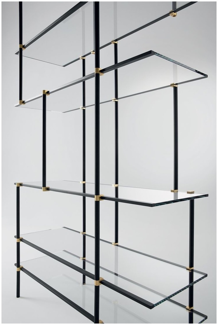 Suspended Glass Shelf Glass Cable Shelving Supporting Bread Intended For Glass Shelf Cable Suspension System (Image 11 of 15)
