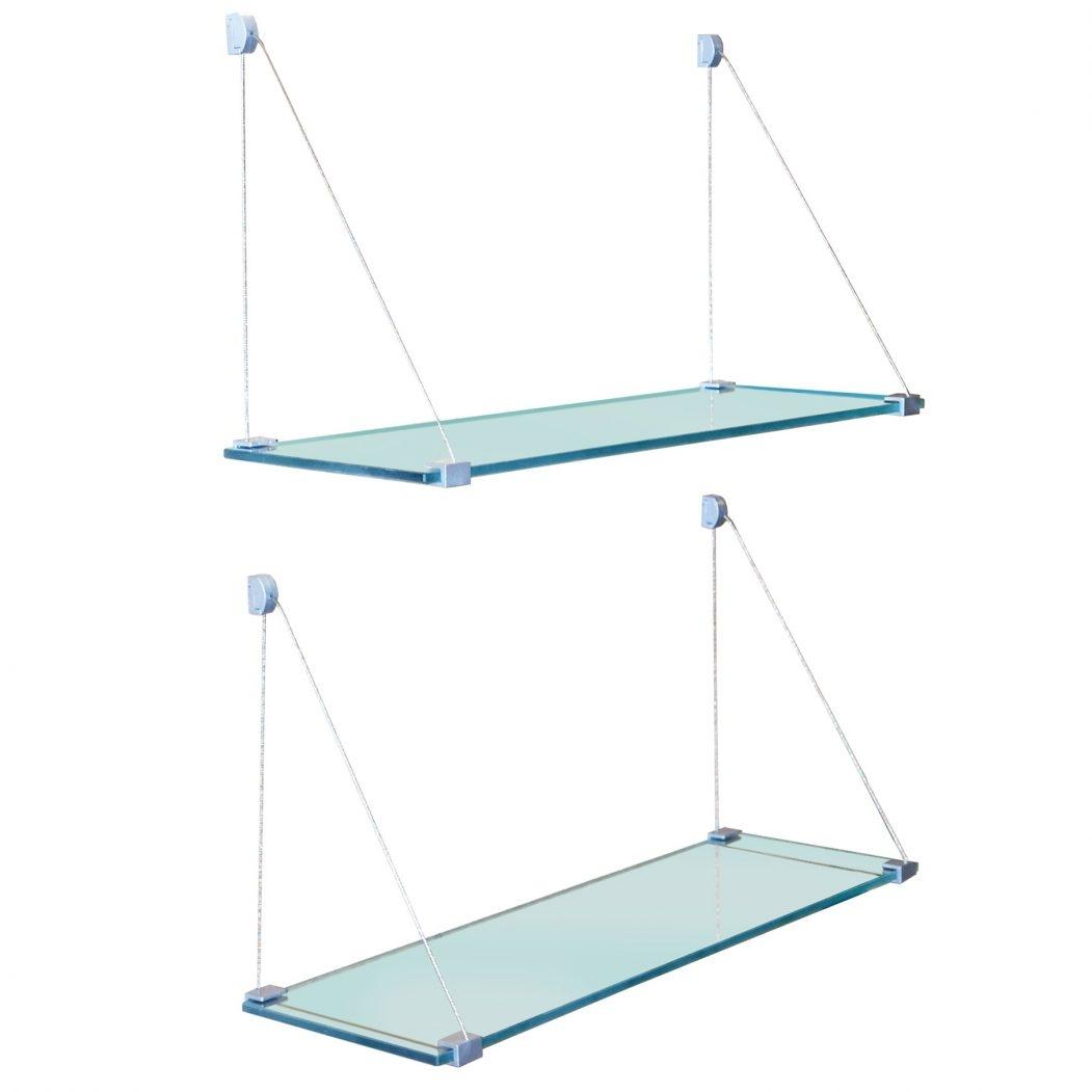 Suspended Glass Shelf Suspended Shelves Suspended Glass Shelf Throughout Suspended Glass Shelves (Image 13 of 15)