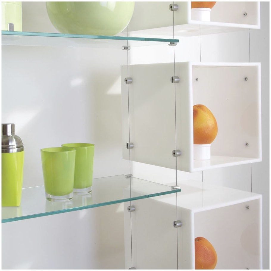 Suspended Glass Shelving Systems Design Modern Shelf Storage And Intended For Suspended Glass Shelves (Image 15 of 15)