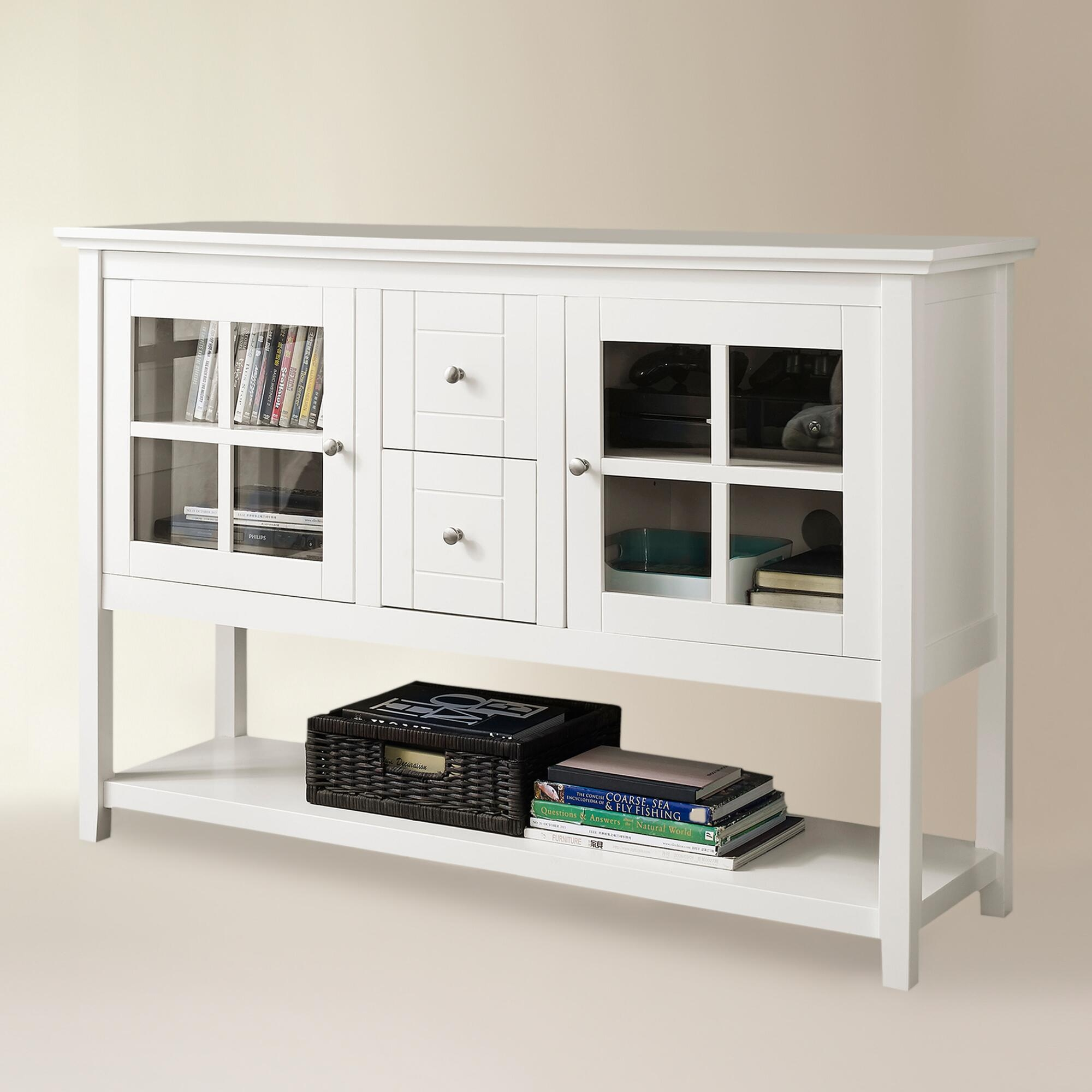 Sylas Standard Bookcase White Solid Wood Bookcase Wayfair 2 Glass With Bookcase With Bottom Cabinets (View 15 of 15)