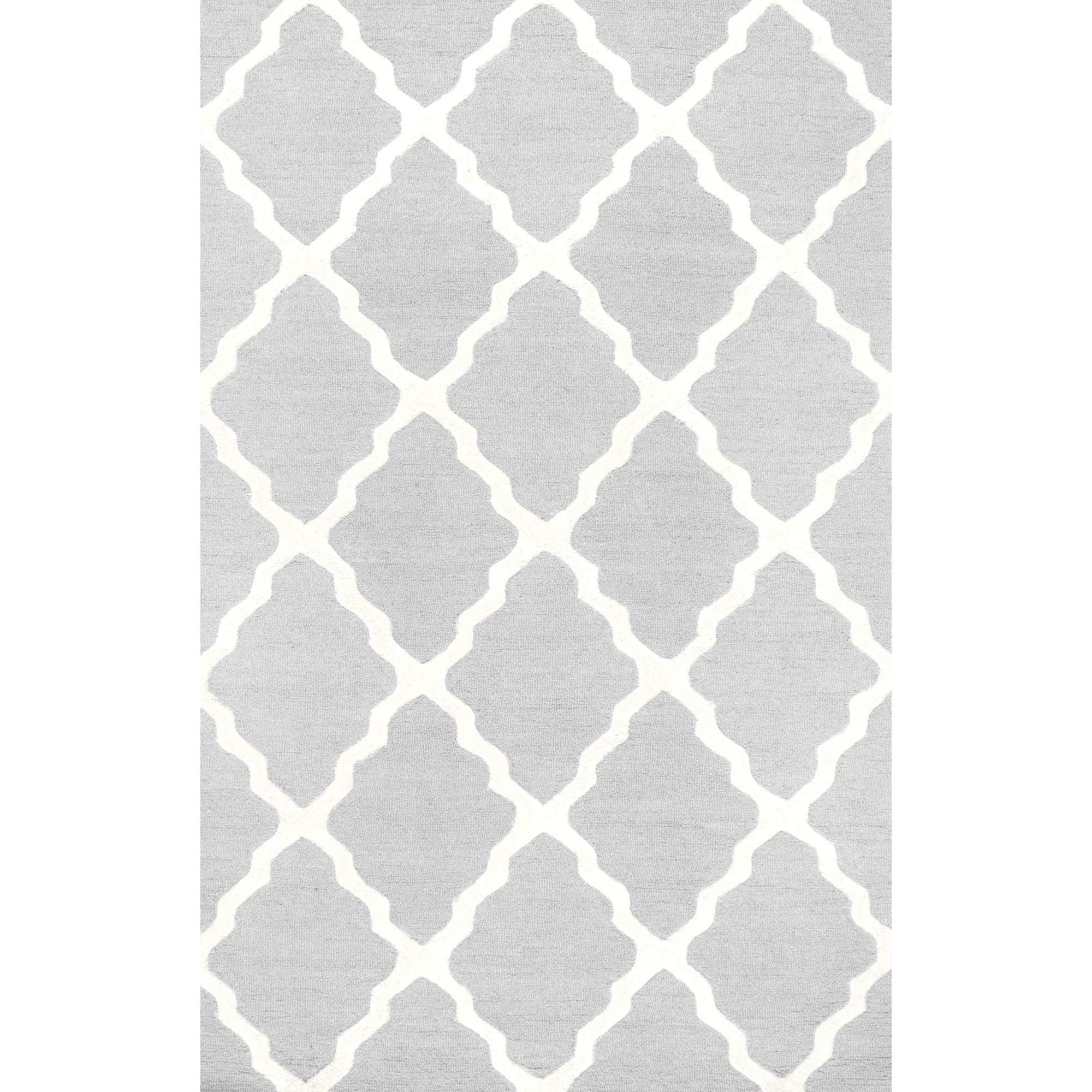 Tadlock Hand Woven Light Gray Area Rug Reviews Allmodern With Light Grey And White Rugs (Image 9 of 15)