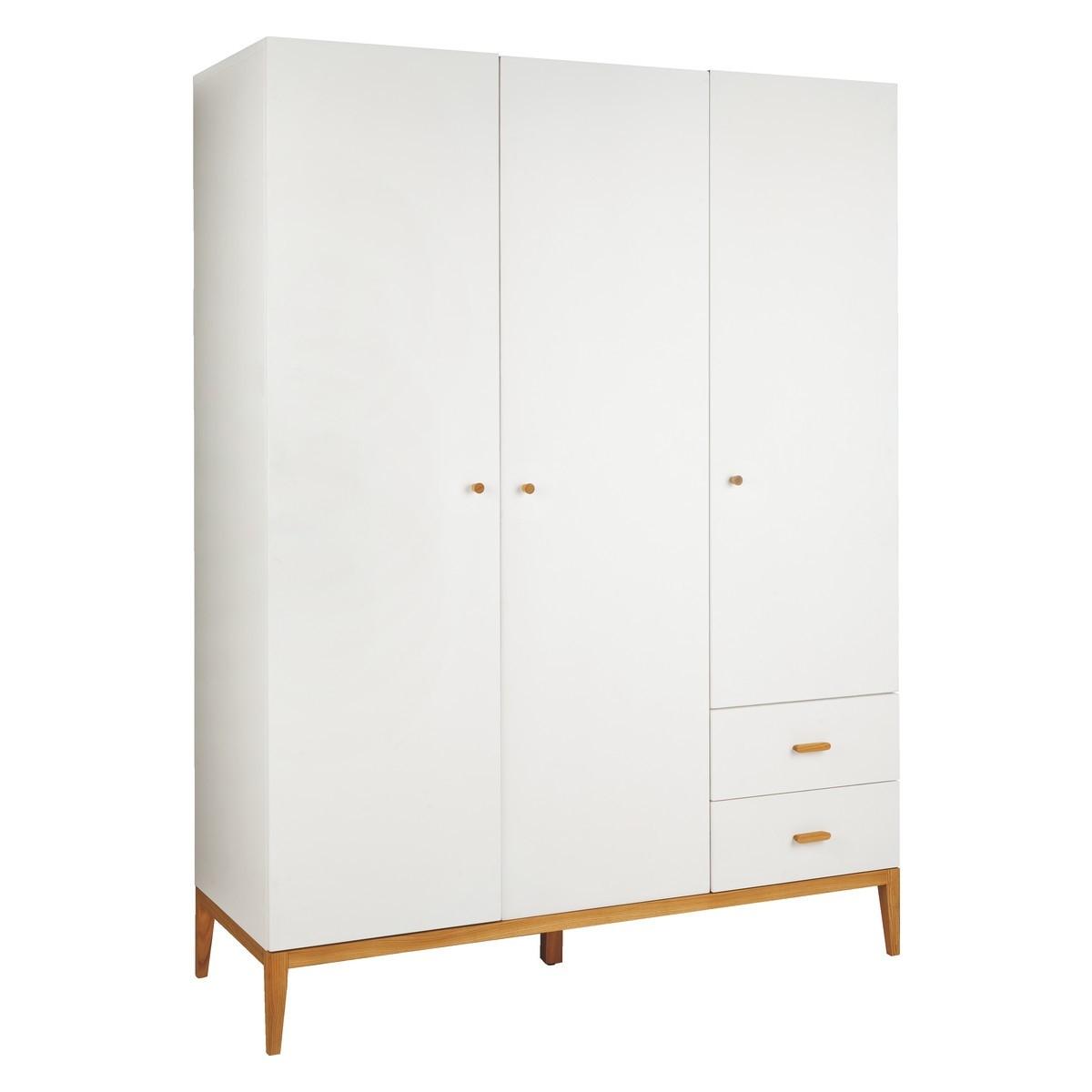 Tatsuma White And Ash 3 Door Wardrobe Buy Now At Habitat Uk Regarding 3 Door White Wardrobes (View 9 of 25)