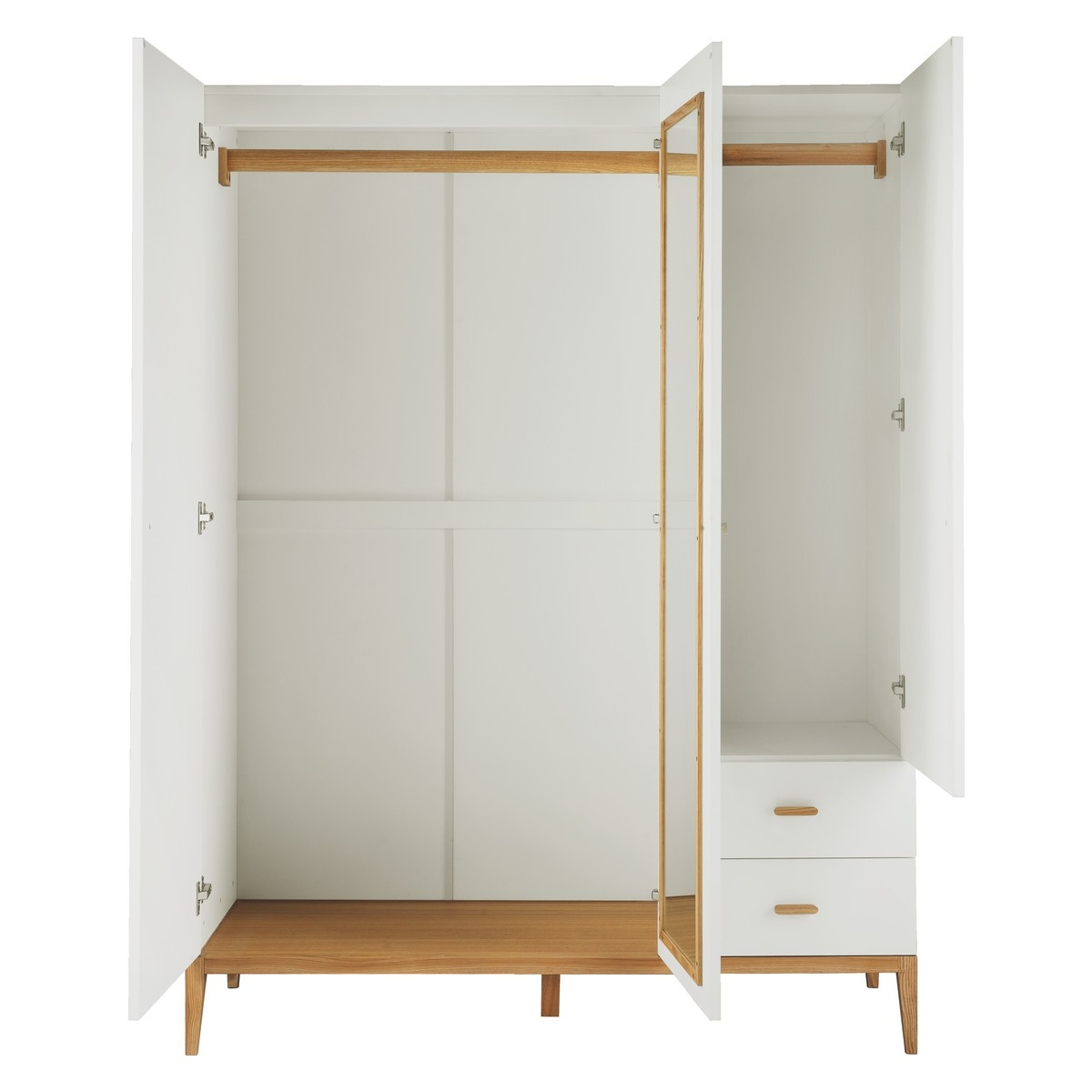 Tatsuma White And Ash 3 Door Wardrobe Buy Now At Habitat Uk With Regard To 3 Door White Wardrobes (Image 22 of 25)