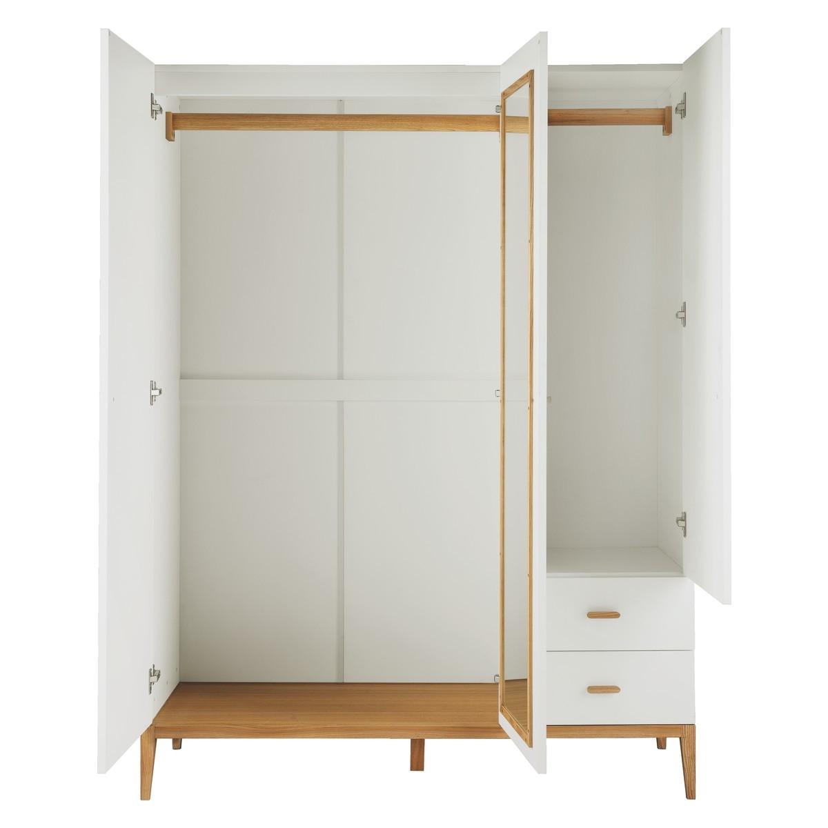 Tatsuma White And Ash 3 Door Wardrobe Buy Now At Habitat Uk With Regard To 3 Door White Wardrobes (View 2 of 25)
