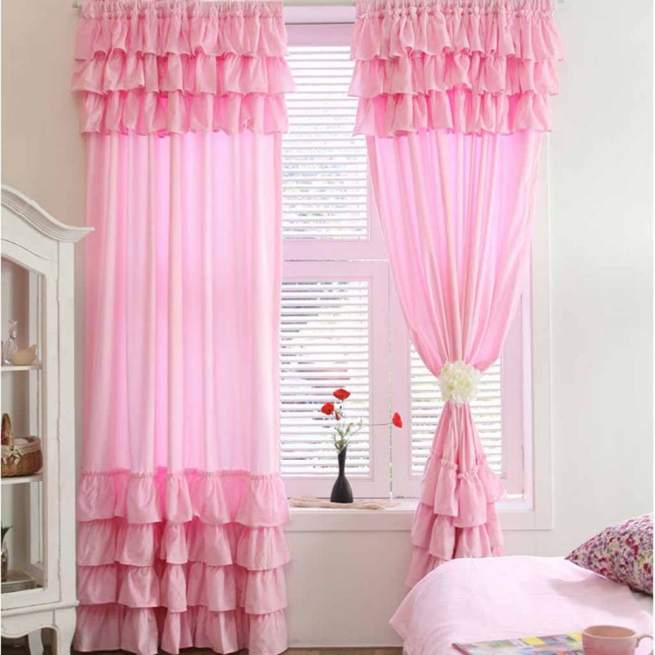 Teens Bedroom Epic Girls Bedroom Curtains Design With Pink Color Inside Bedroom Curtains For Girls (View 13 of 25)