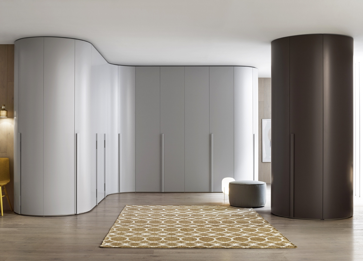 Tempo Curved Wardrobe Fitted Wardrobes Bedroom Furniture Within Curved Wardrobe Doors (Image 12 of 15)