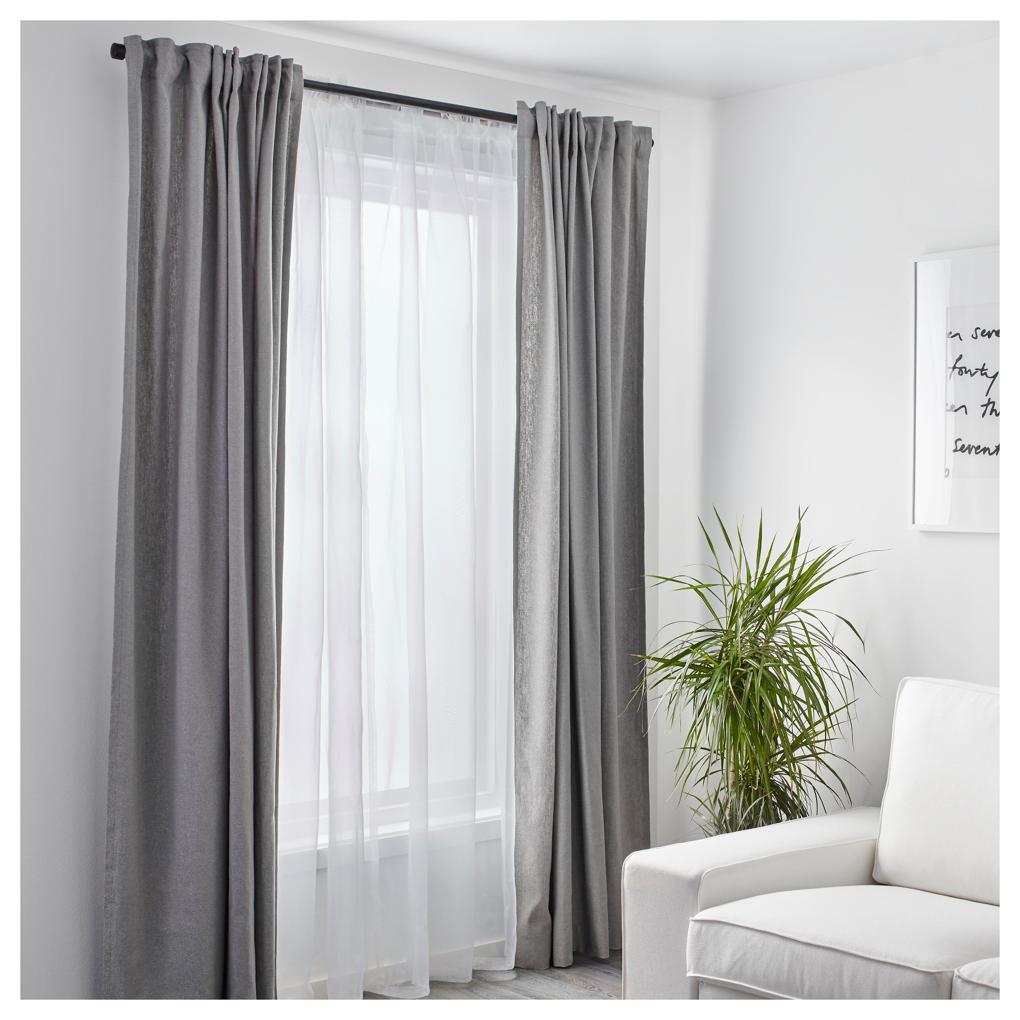Teresia Sheer Curtains 1 Pair Ikea For Curtain Sheers (View 19 of 25)