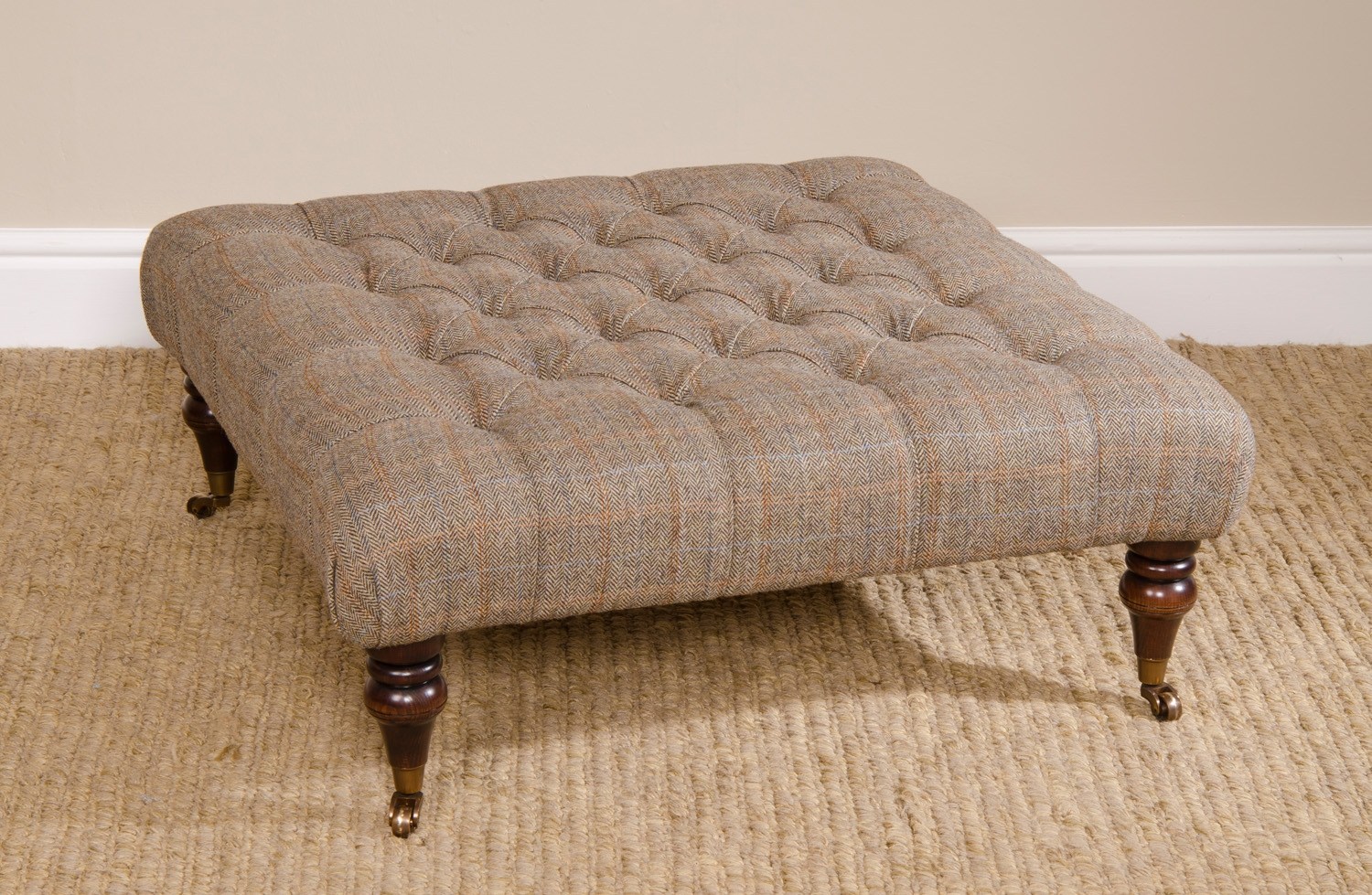 Tetrad Harris Tweed Tetrad Harris Tweed Castlebay Fabric Inside Fabric Footstools (Image 14 of 15)