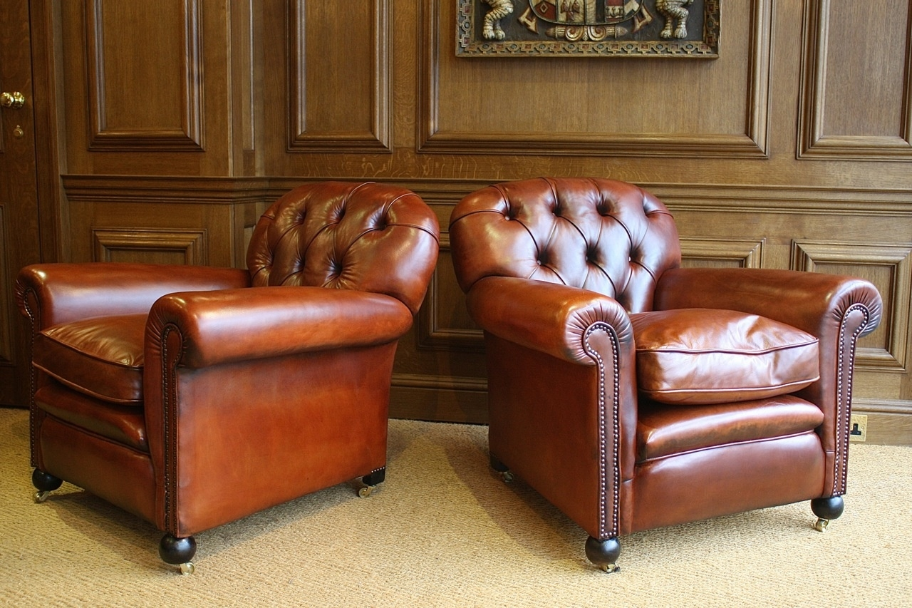 The Antiques Archive Leather Chairs Of Bath Antique And Inside Vintage Leather Armchairs (Image 9 of 15)