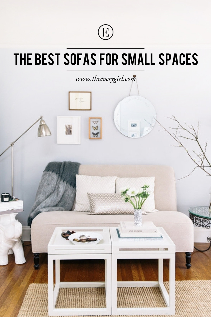 The Best Sofas For Small Spaces The Everygirl Pertaining To Armchairs For Small Spaces (Image 15 of 15)