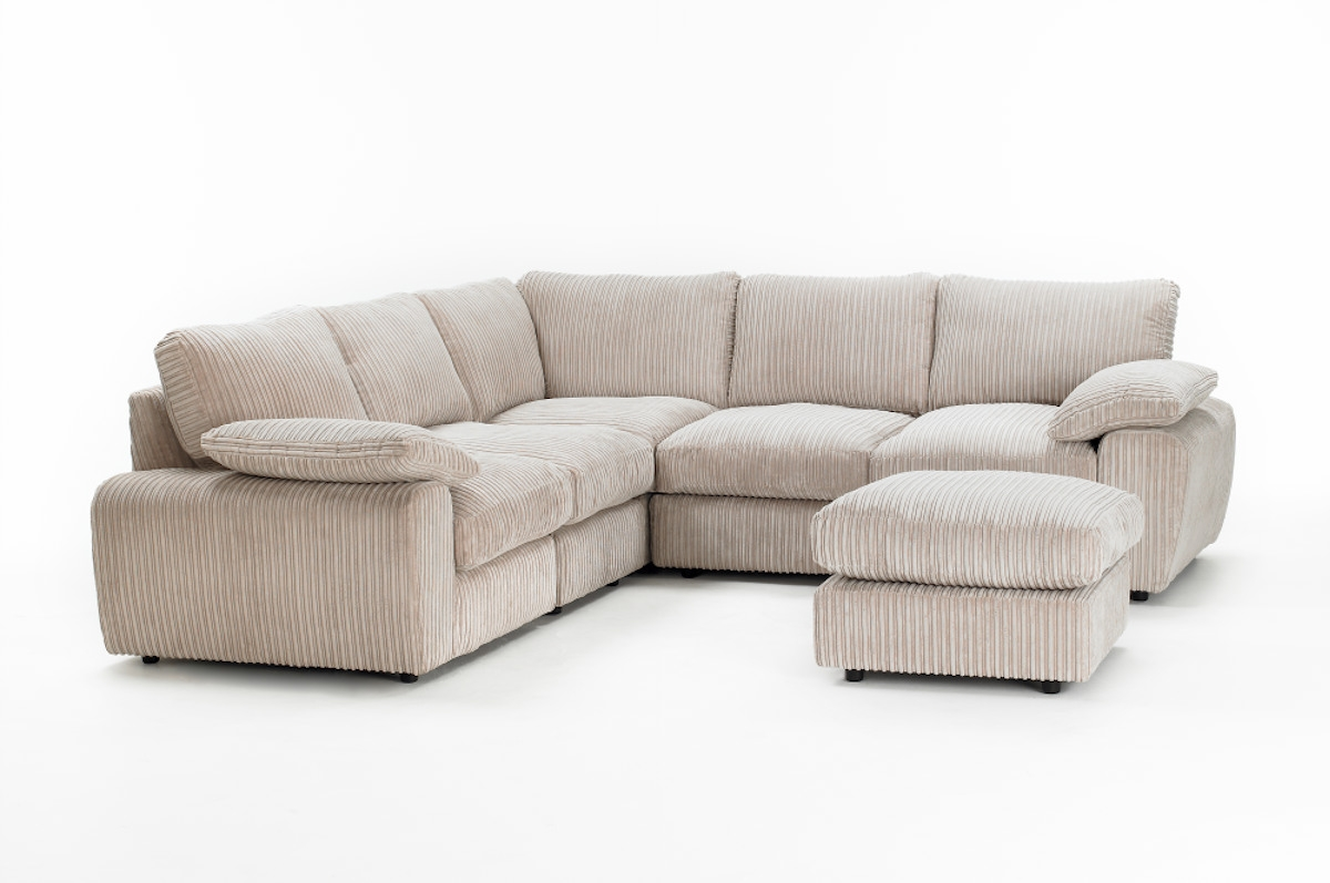 The Cooper Jumbo Cord Modular Corner Sofa Is A Luxurious Sofa That Throughout Modular Corner Sofas (Image 15 of 15)