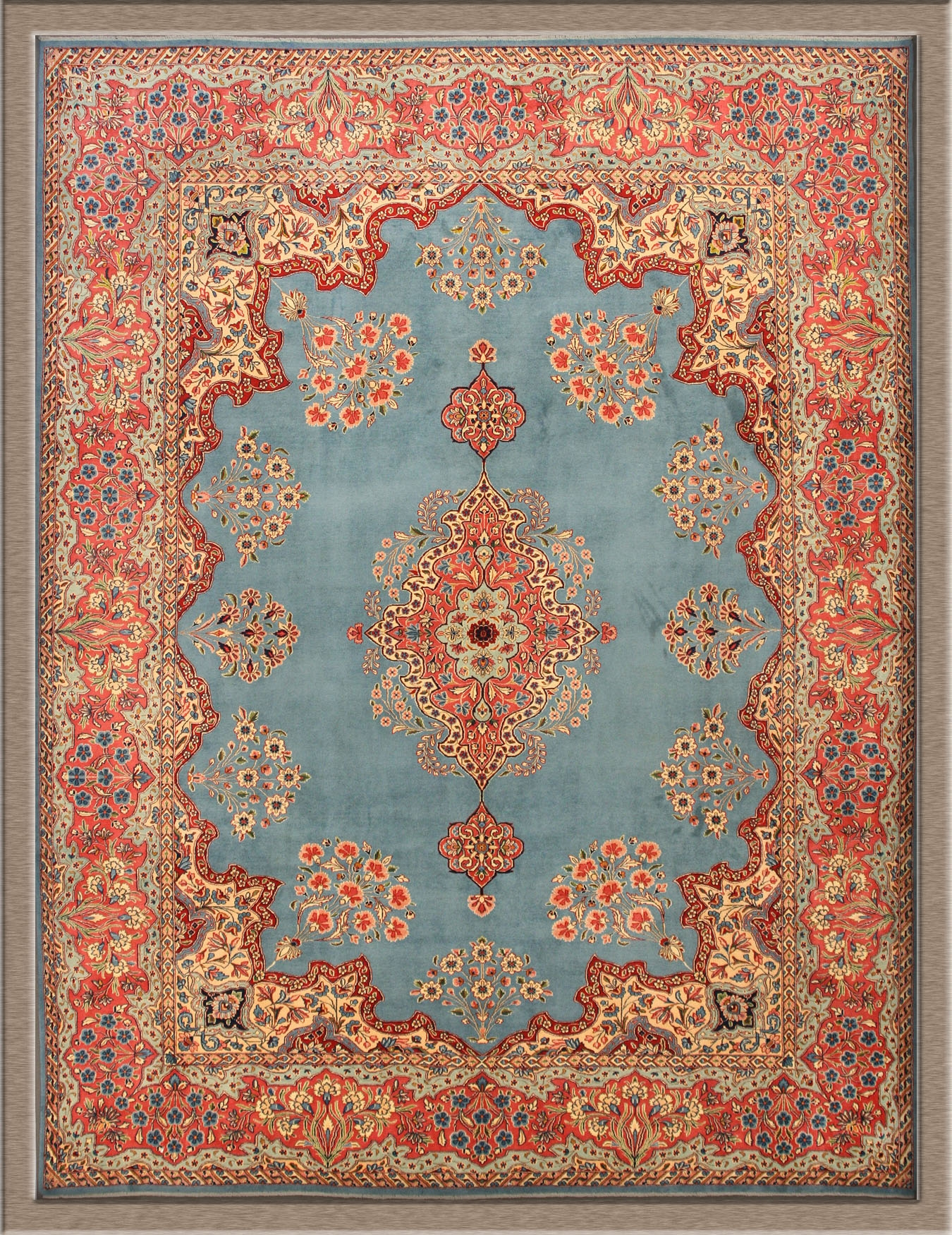 The Exotic Persian Rugs For Your Living Room Floor Decor Persian With Regard To Blue Persian Rugs (View 14 of 15)