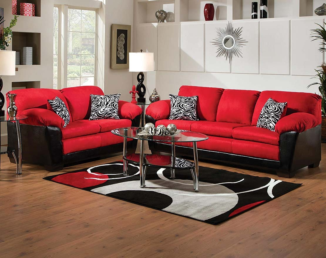 The Implosion Red Sofa And Loveseat Set Is In Your Face Bold The Pertaining To Red Sofas And Chairs (Image 15 of 15)