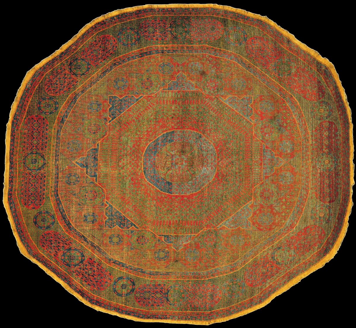 The Milan Circular Mamluk Carpet Cairo Egypt 16th Century The In Circular Carpets (Image 14 of 15)