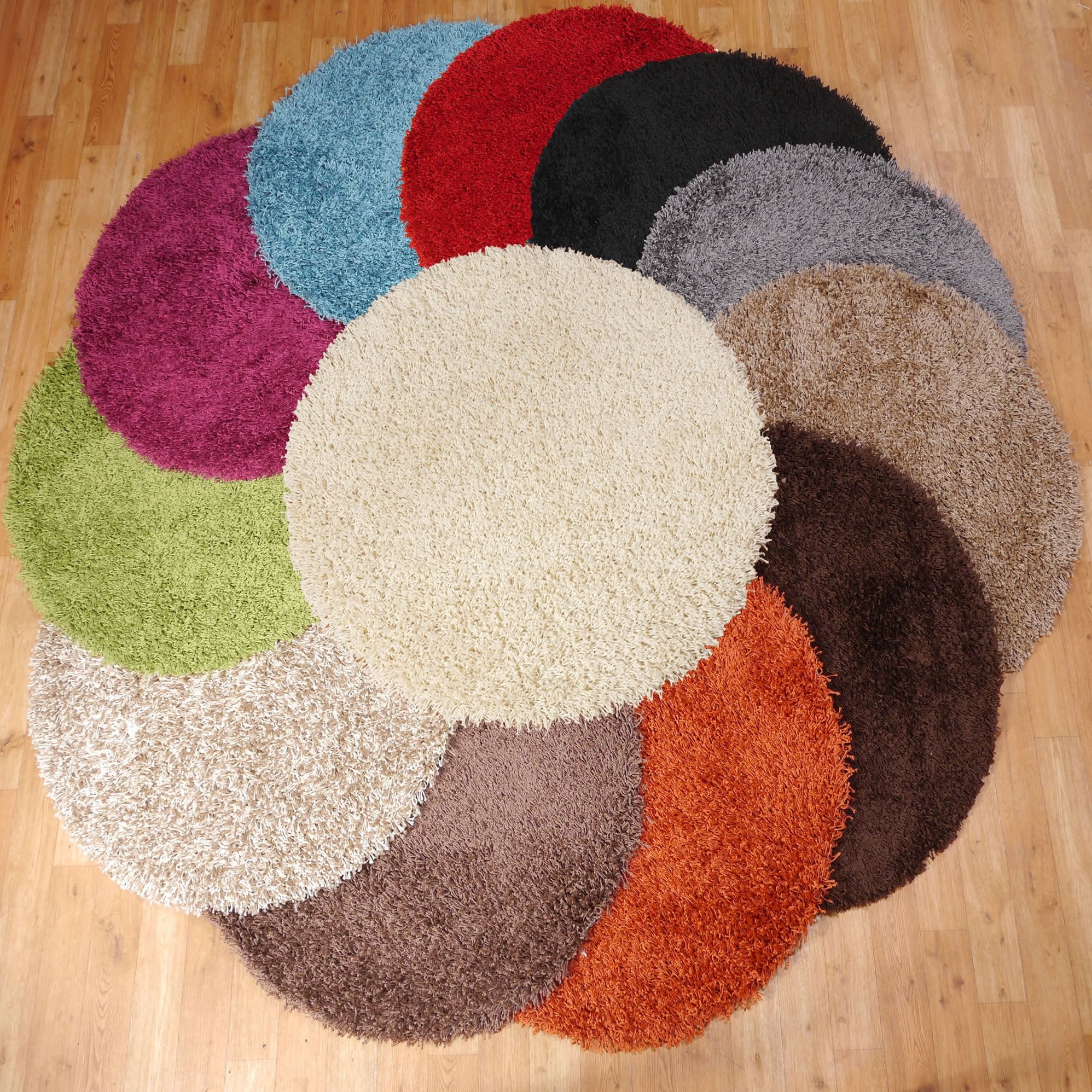 The Retro Look Of A Circular Rug Under A Round Coffee Table Its With Regard To Circular Wool Rugs (Image 15 of 15)
