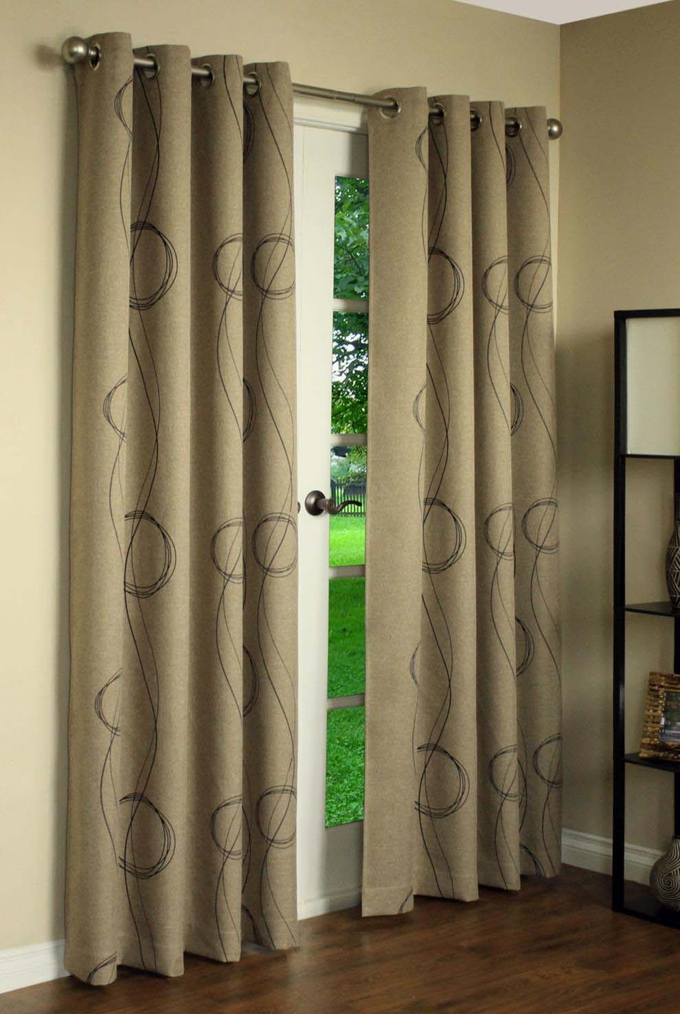 Thermal Grommet Top Curtains Grommet Top Insulated Panels In Faux Suede Curtain Panels (Image 24 of 25)