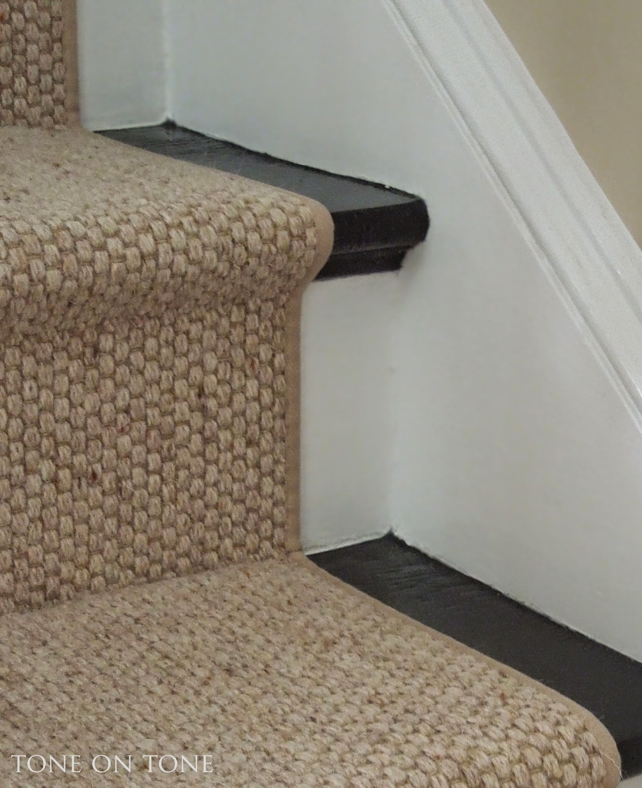 Tone On Tone I Chose A Wool Sisal Style Staircase Runner With Inside Natural Stair Tread Rugs (Image 13 of 15)