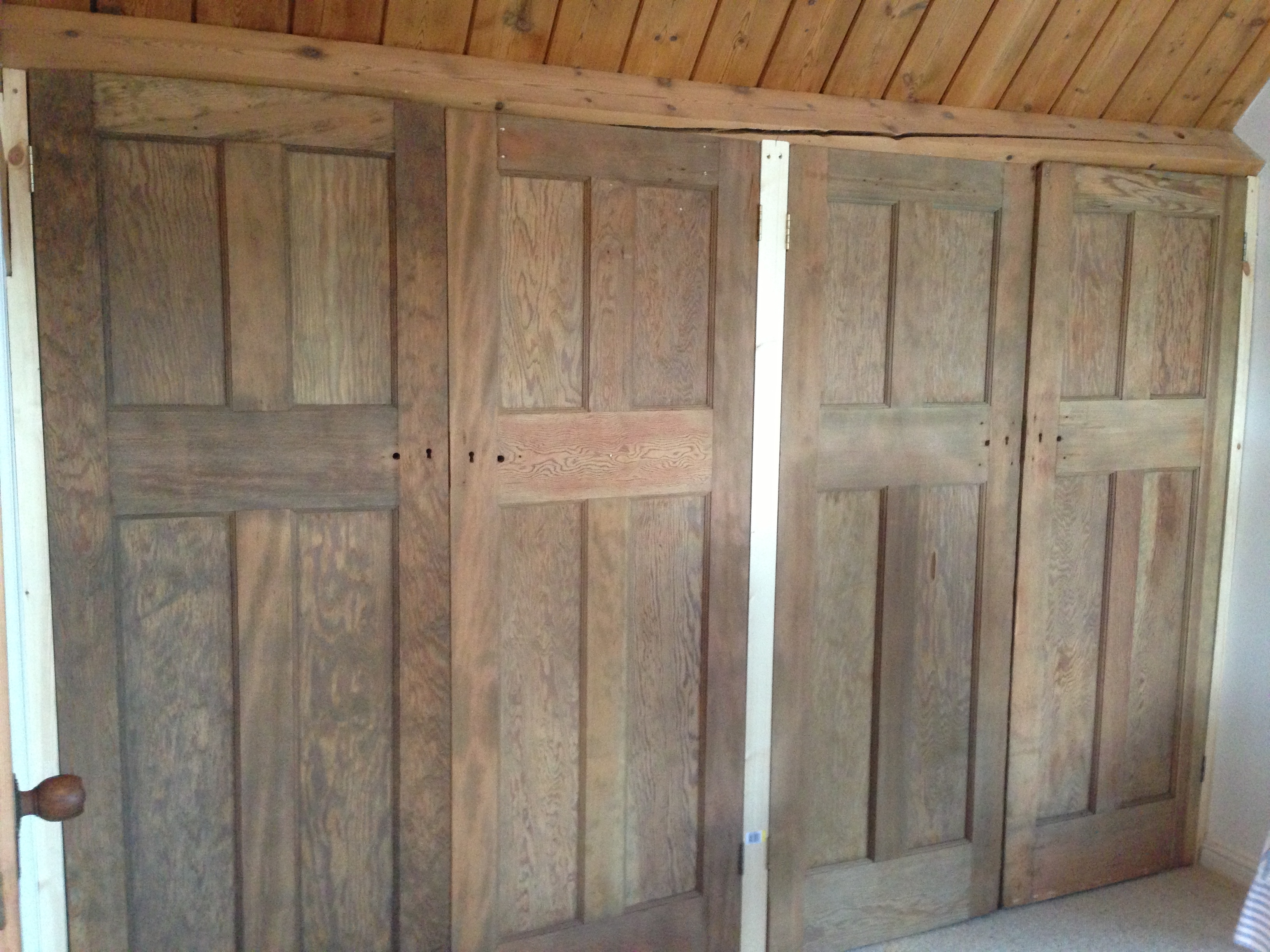 Tongue Groove Solid Oak Wardrobes Ak House Ideas Pinterest With Regard To Solid Wood Built In Wardrobes (View 7 of 15)