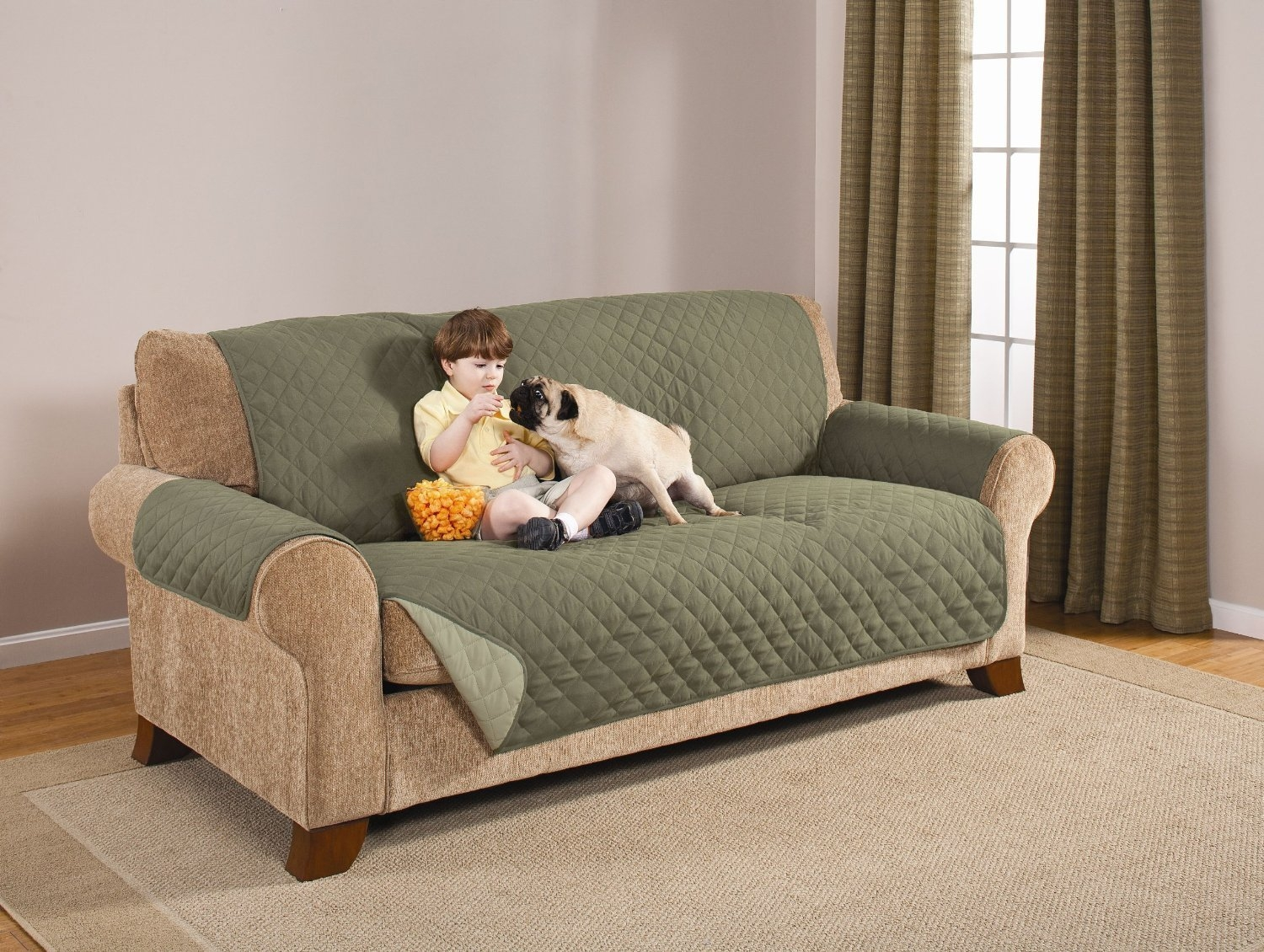 Top 10 Best Pet Couch Covers That Stay In Place Couch Covers For For Sofa And Chair Covers (Image 15 of 15)