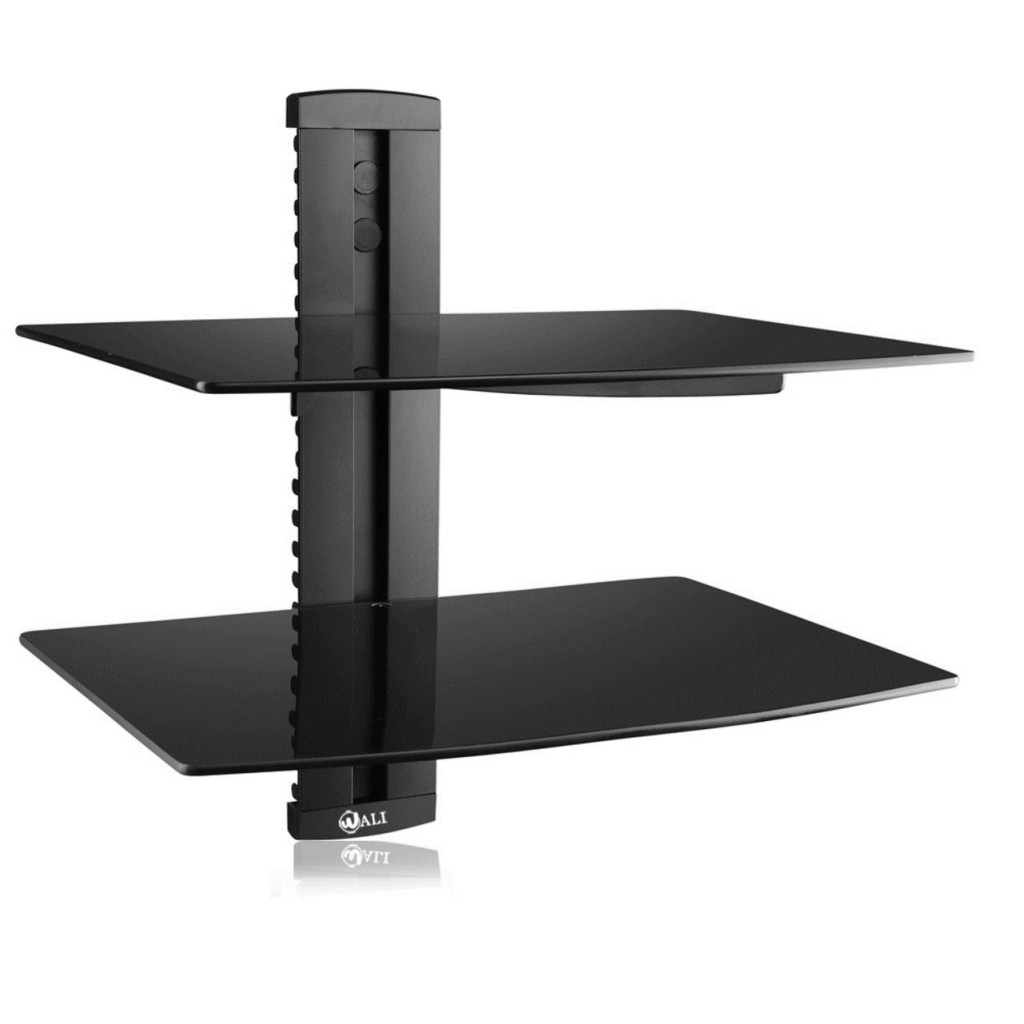 Top 20 Floating Glass Shelves For Interiors Pertaining To Black Glass Floating Shelf (Image 13 of 15)
