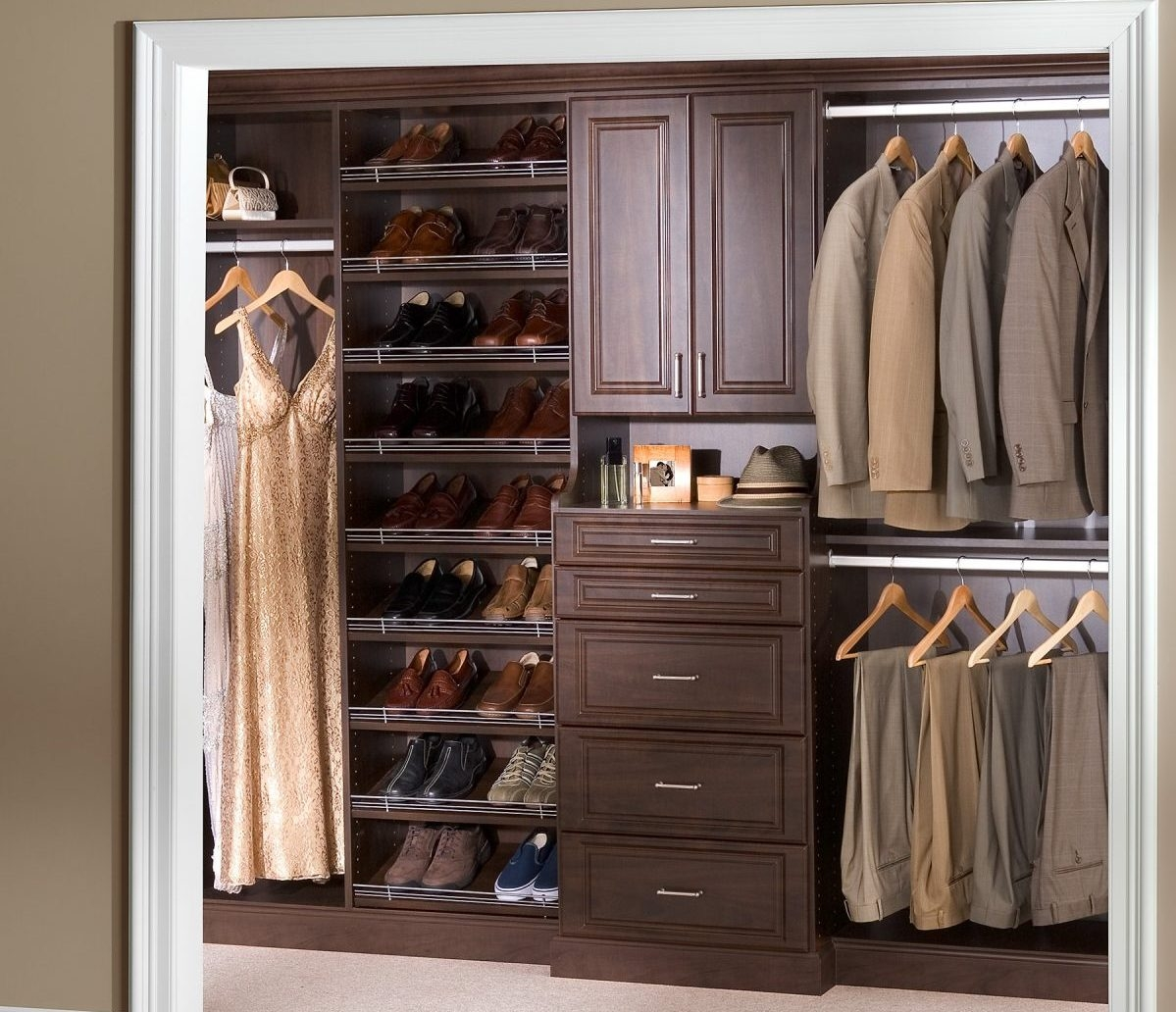 Top 30 Modern Bedroom Cupboard Storage Decoration Ideas Regarding Bedroom Wardrobe Storages (View 8 of 25)