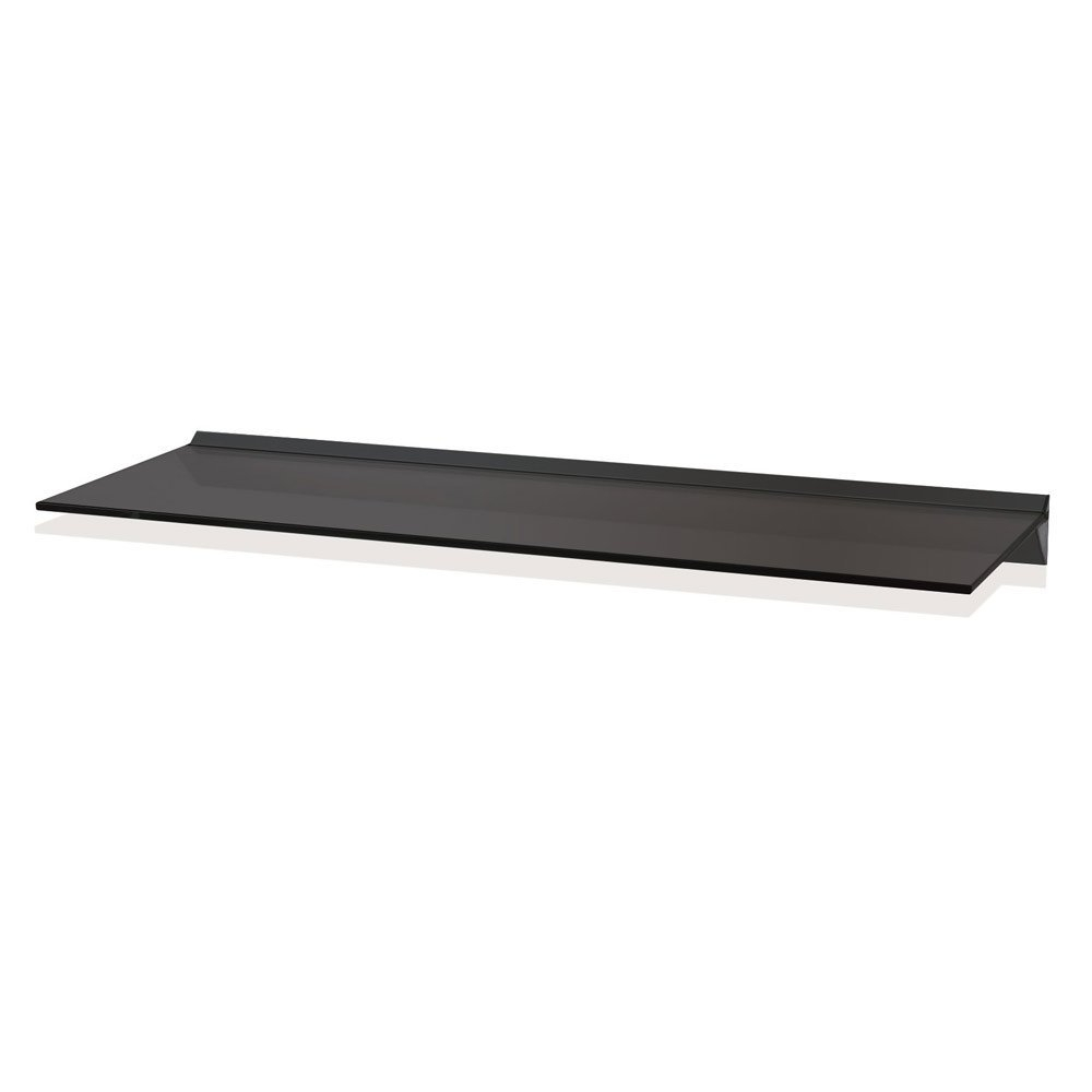 Toughened Clear Safety Glass 100cm Wide Floating Shelf Amazonco With Regard To Black Glass Floating Shelves (View 7 of 15)