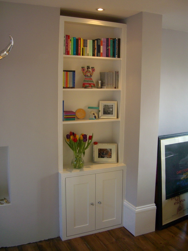 Trad Alcove Bookcase Cupboard Option Would Do Without The With Shelves And Cupboards (Image 12 of 15)