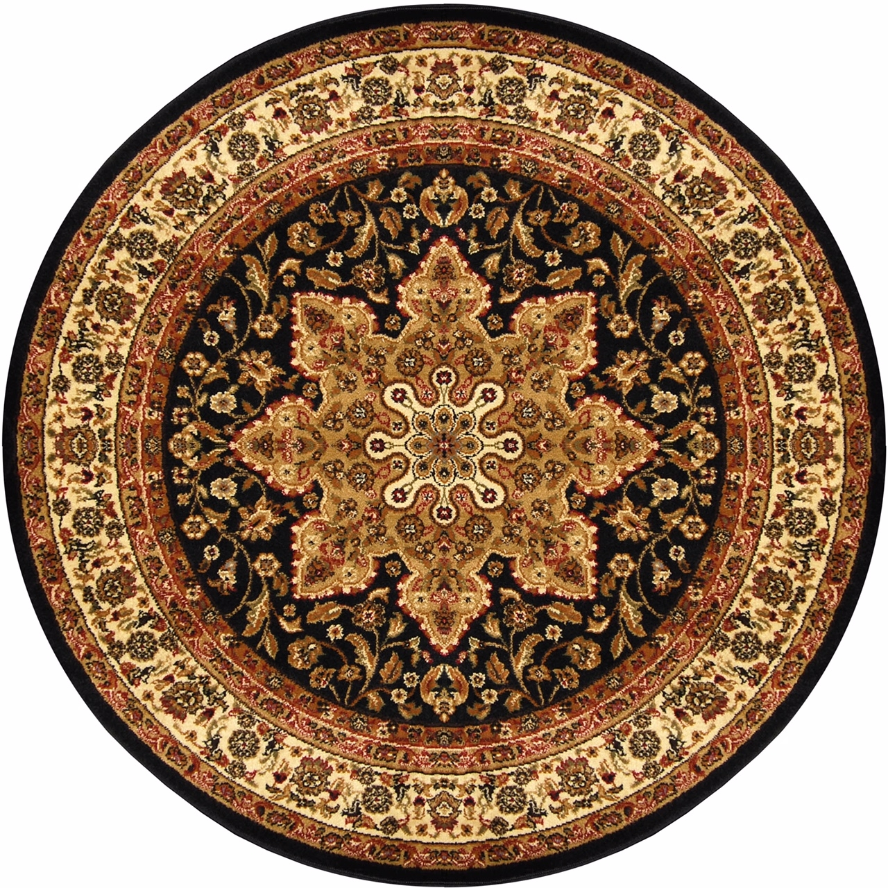 Traditional Round 5×5 Oriental Area Rug Persian Carpet Actual 5 Throughout Round Persian Rugs (Image 15 of 15)