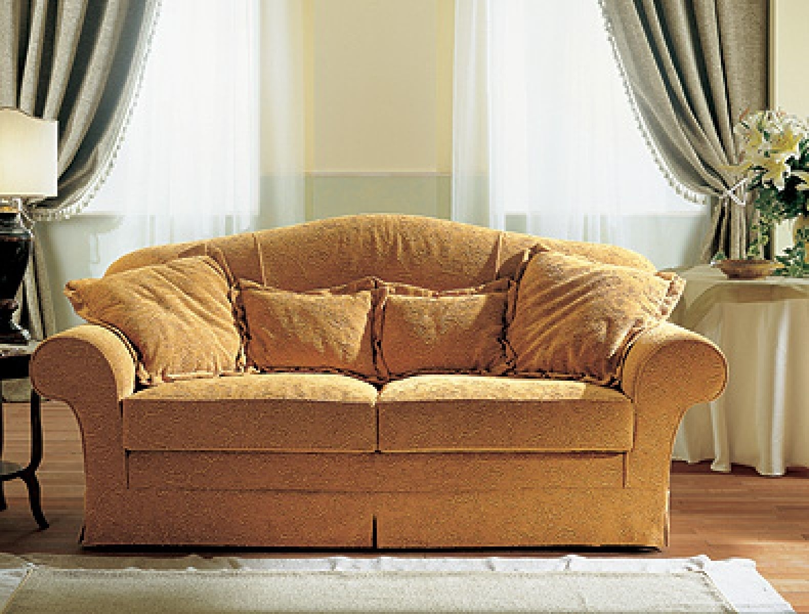 Traditional Sofa Fabric 2 Seater White Jois Doimo Salotti With Regard To Traditional Fabric Sofas (Image 14 of 15)