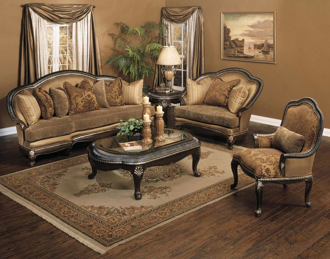 Traditional Sofas Loveseats Chairs Sets Sectionals Inside Traditional Fabric Sofas (Image 15 of 15)