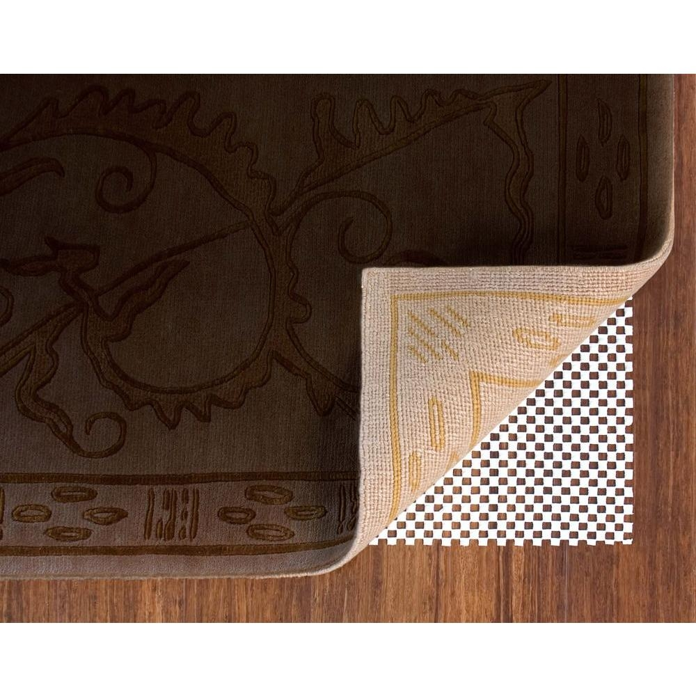 Trafficmaster Premium 86 In X 112 In Non Slip Safety Rug To Within Non Slip Rugs (View 14 of 15)