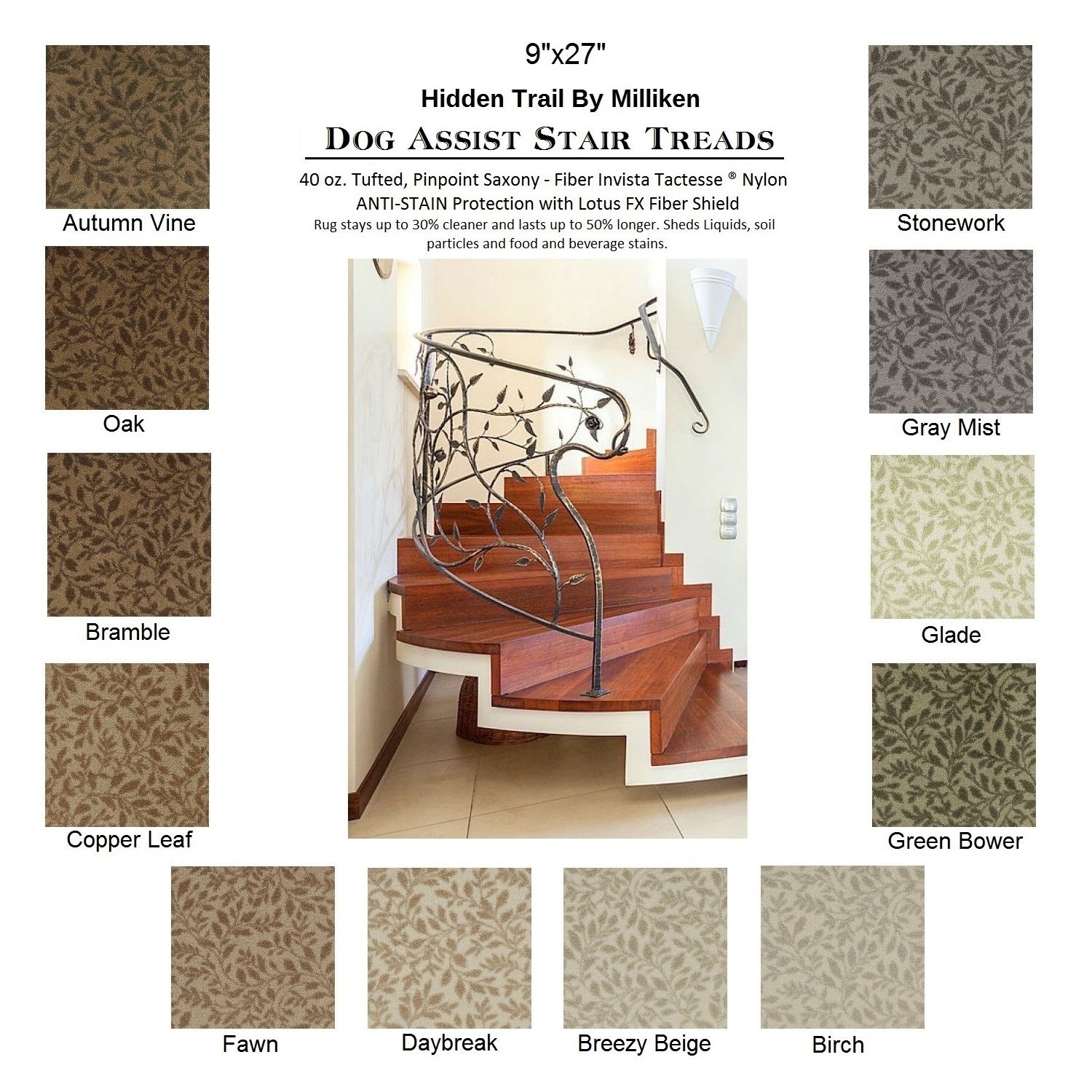 Trail Ii Dog Assist Carpet Stair Treads Regarding Carpet Stair Treads For Dogs (Image 15 of 15)