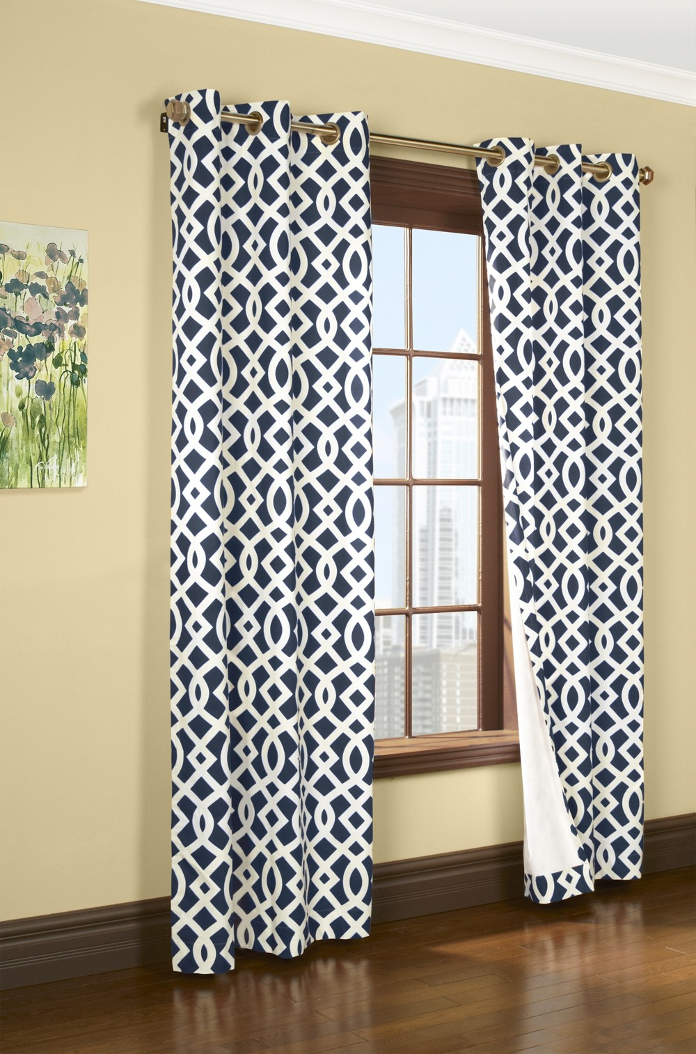 Featured Image of Navy And White Curtains
