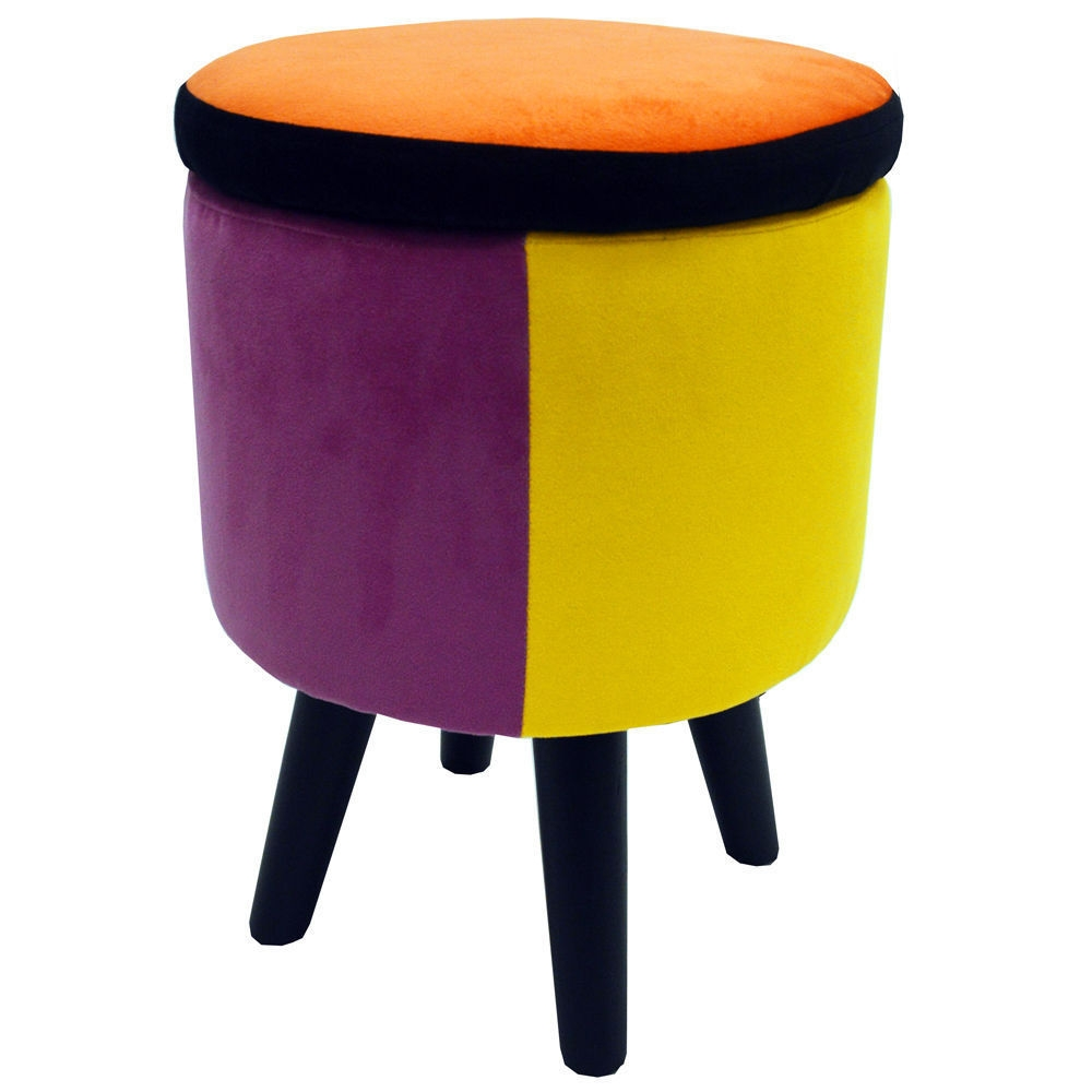 Trendy Storage Stool Colorful Ottoman Footstool Dressing Table Pertaining To Tesco Footstools And Pouffes (Image 15 of 15)
