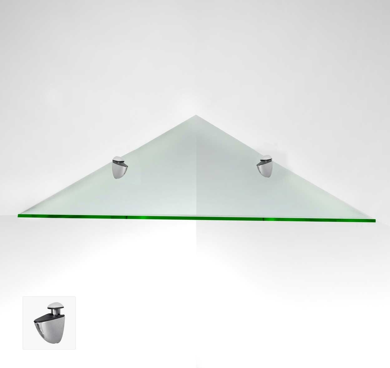 Triangle Floating Glass Shelves Tempered In Floating Glass Shelves (Image 12 of 15)