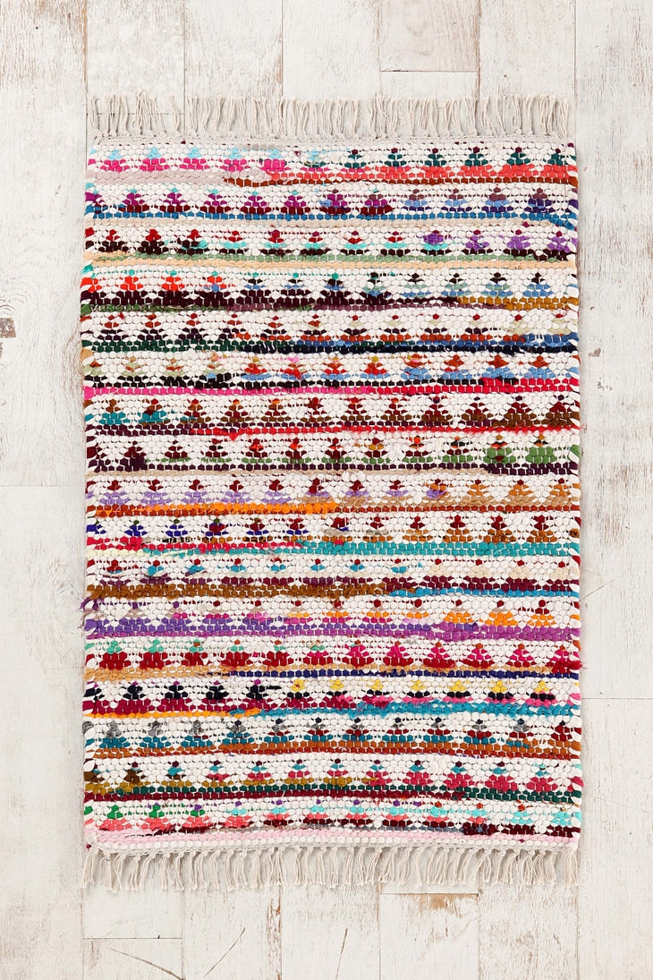Triangle Woven Rug Woven Rug In Urban Outfitters Rugs (Image 9 of 15)