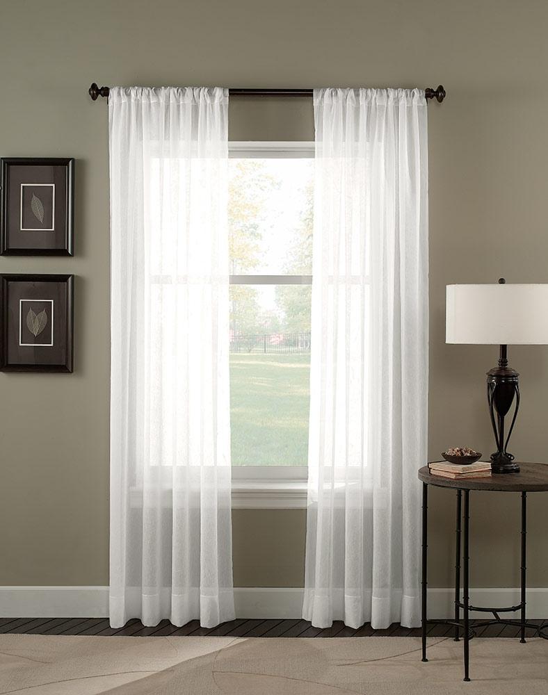 Trinity Crinkle Voile Sheer Curtain Panel Curtainworks Regarding Curtains Sheers (Image 23 of 25)