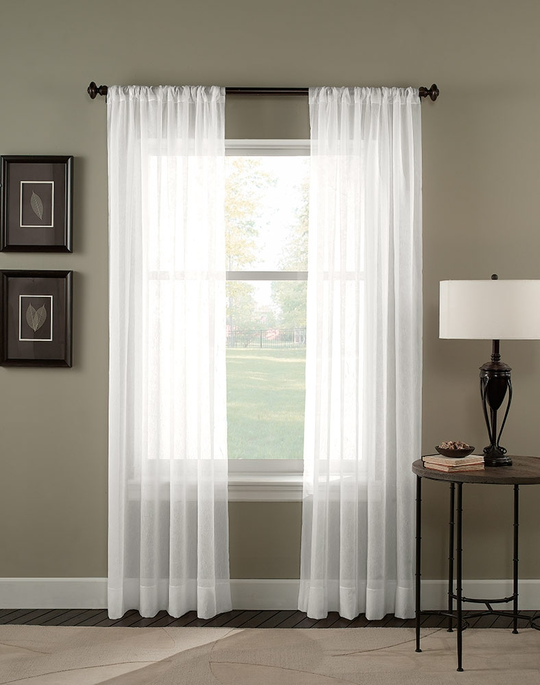 Trinity Crinkle Voile Sheer Curtain Panel Curtainworks Regarding Sheer White Curtain Panels (Image 21 of 25)