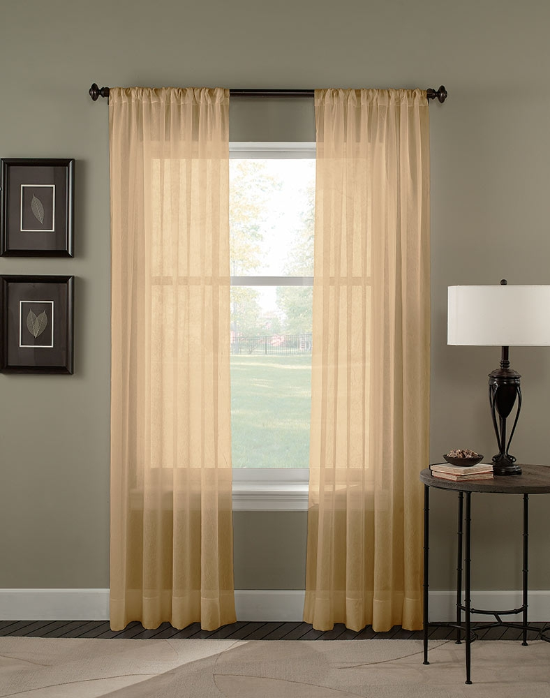 Trinity Crinkle Voile Sheer Curtain Panel Curtainworks Within Curtain Sheers (View 15 of 25)
